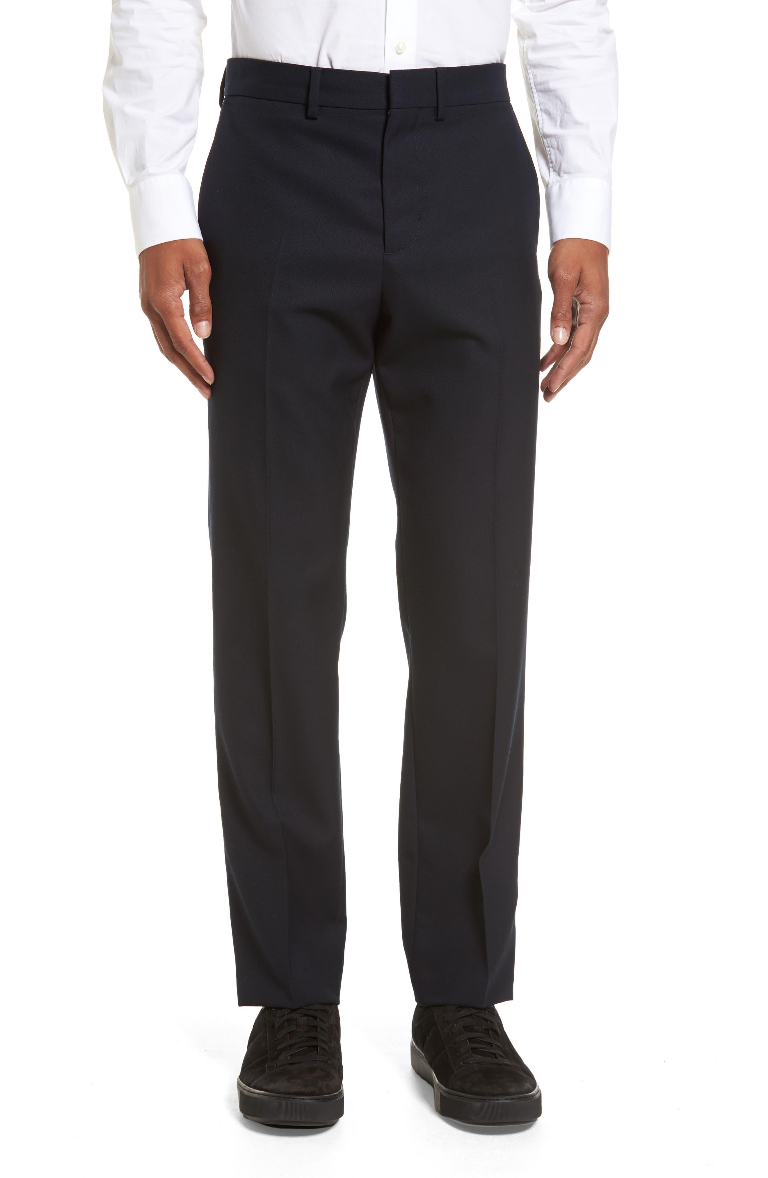 Regular Fit Wool Trousers,                         Main,                         color, Coastal