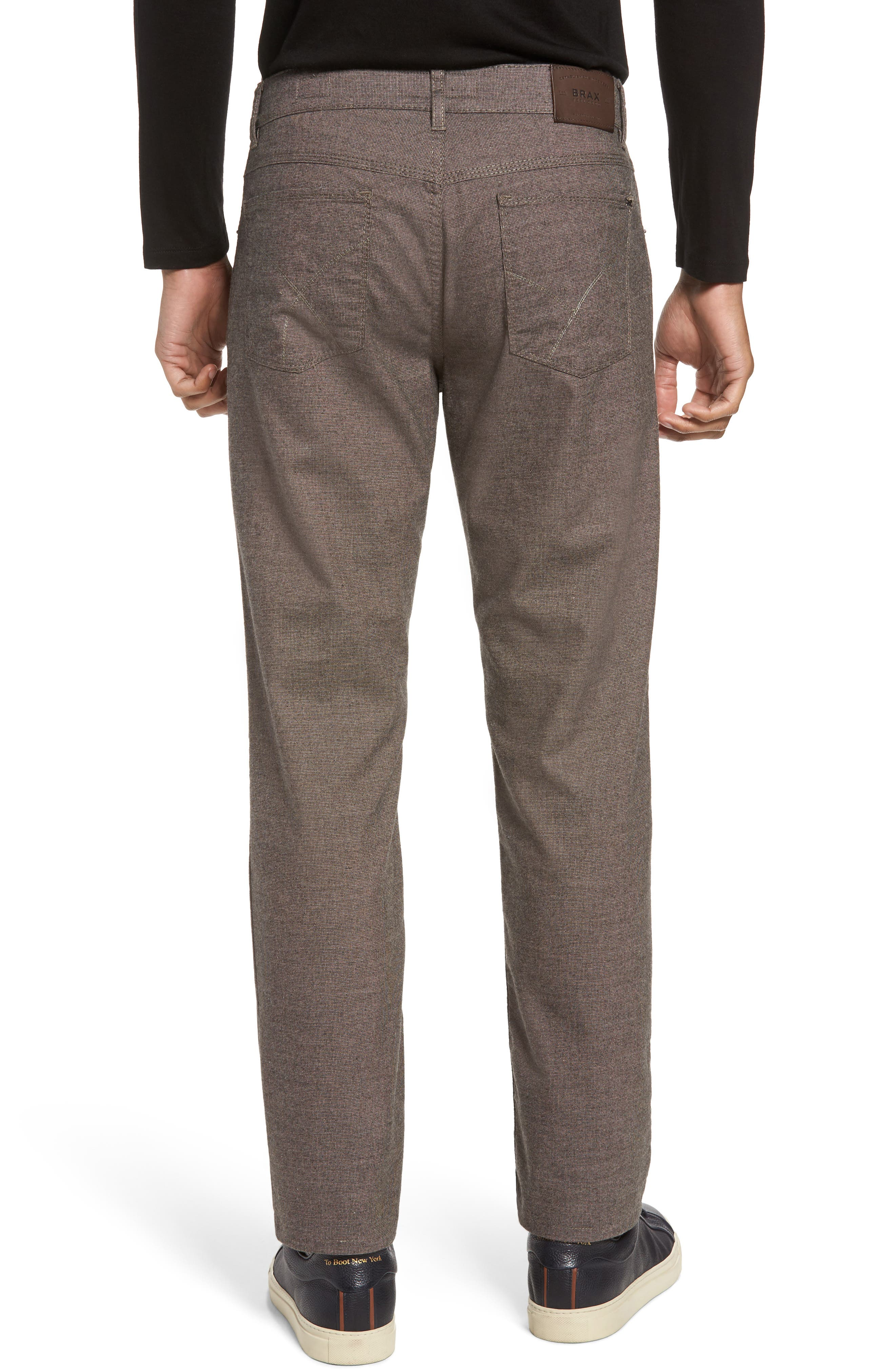 Alternate Image 2  - Brax Five-Pocket Stretch Cotton Trousers