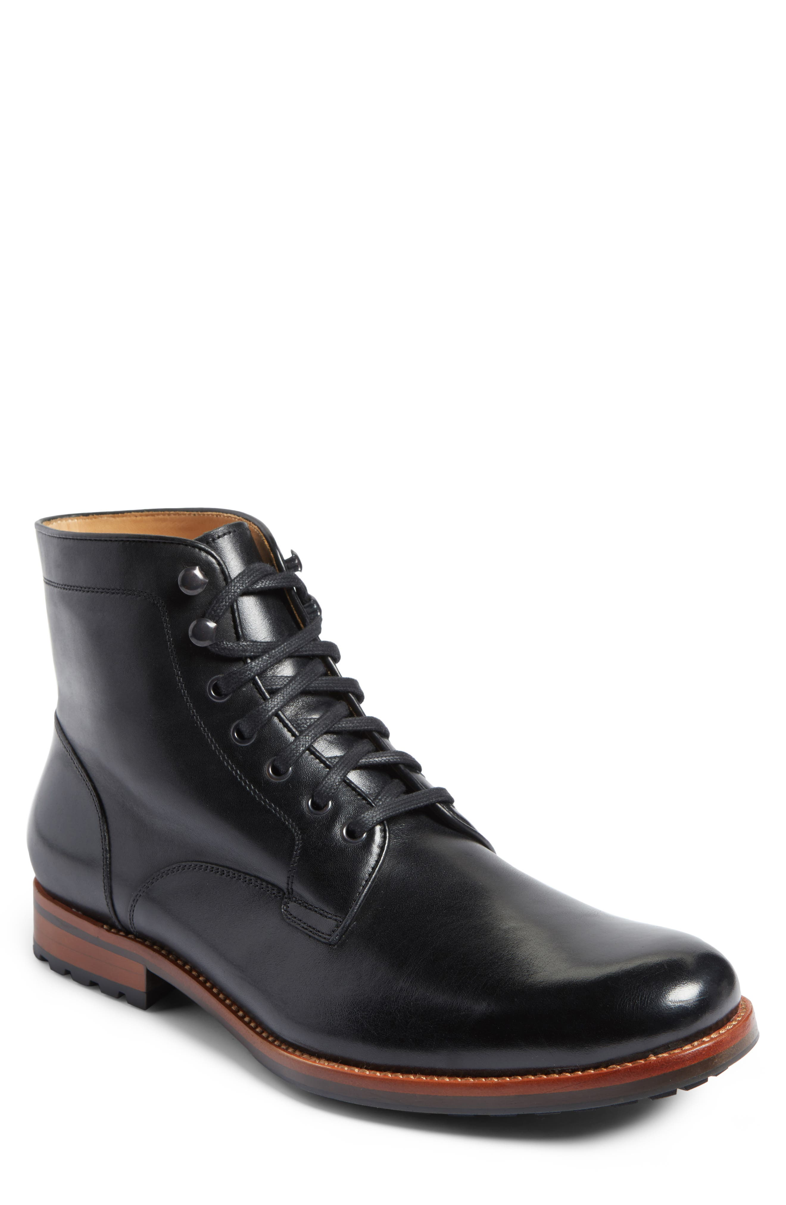 Main Image - John W. Nordstrom® Axeford Plain Toe Boot (Men)