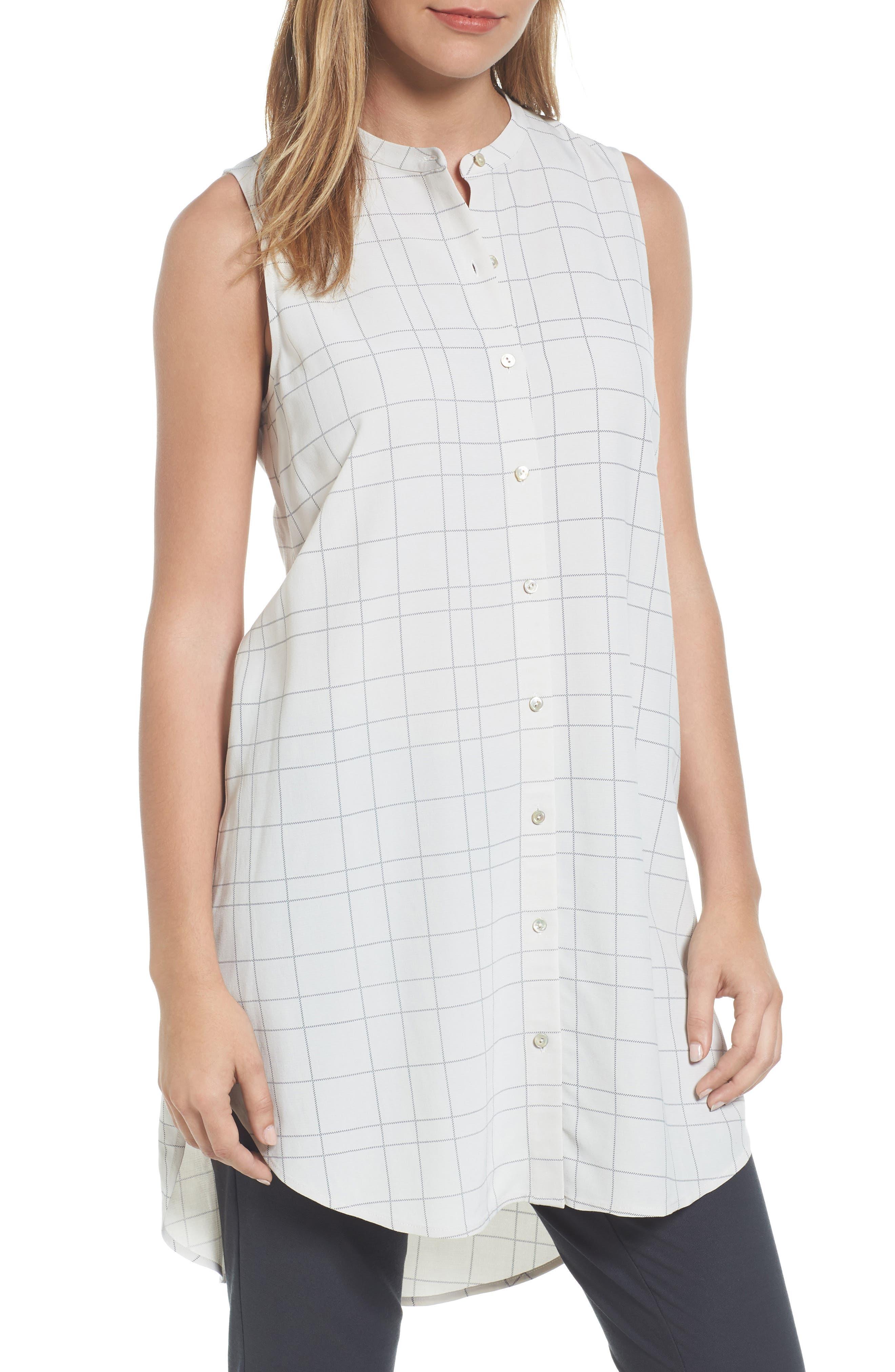 Eileen Fisher Tencel® Blend Tunic Shirt