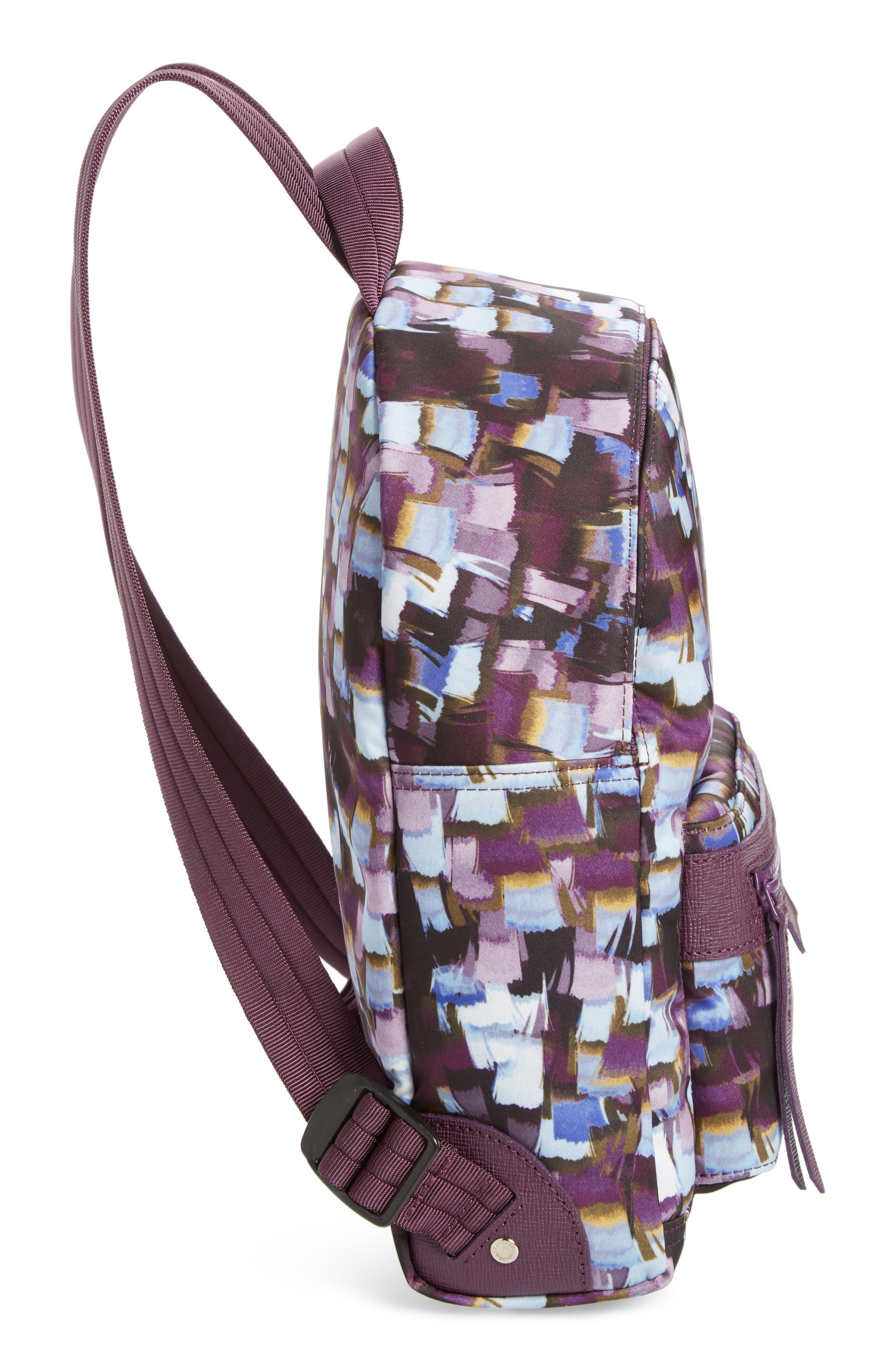 Le Pliage Neo - Vibrations Nylon Backpack,                             Alternate thumbnail 4, color,                             Deep Purple