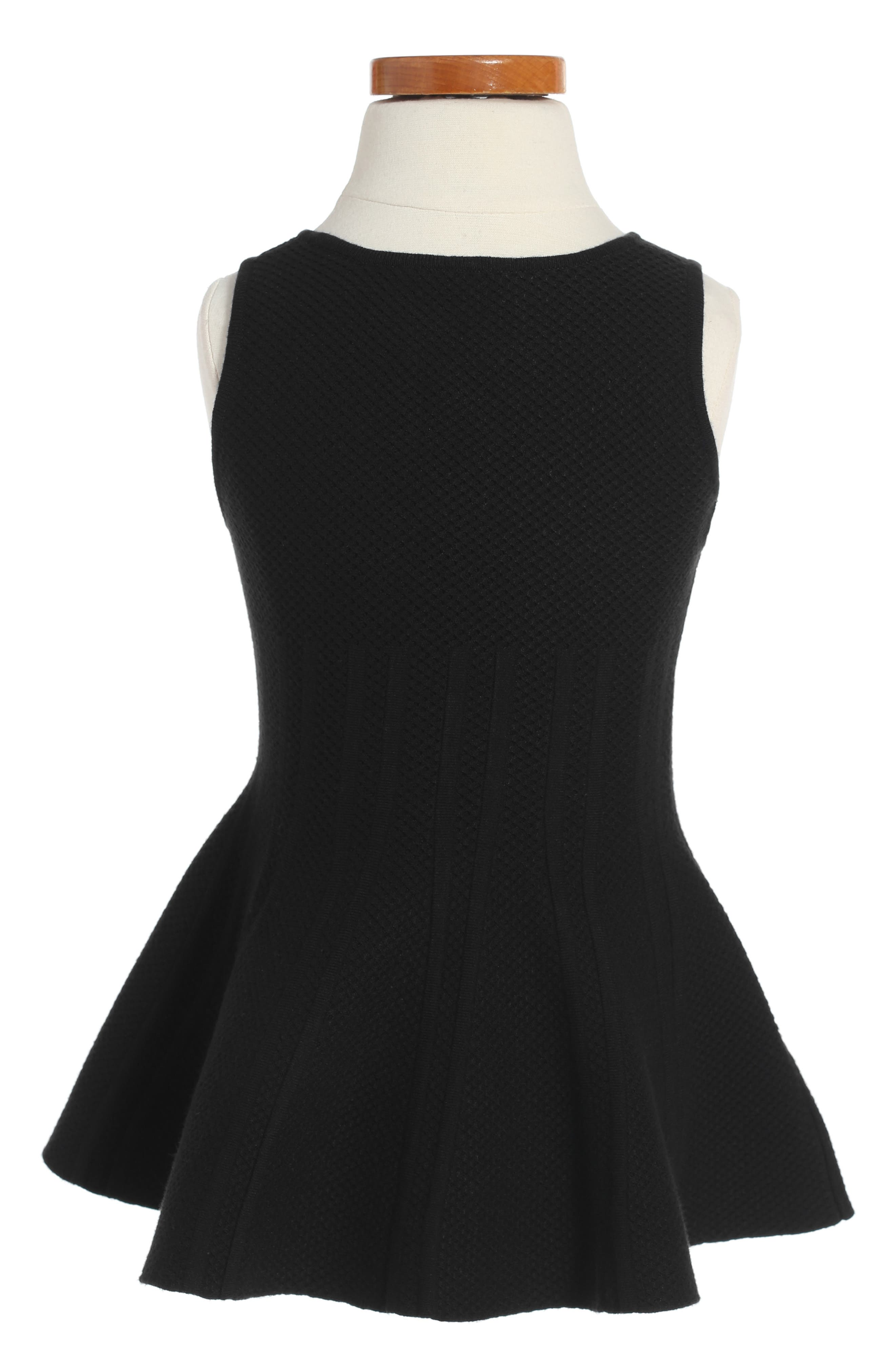 Alternate Image 2  - Milly Minis Peplum Hem Dress (Toddler Girls, Little Girls & Big Girls)