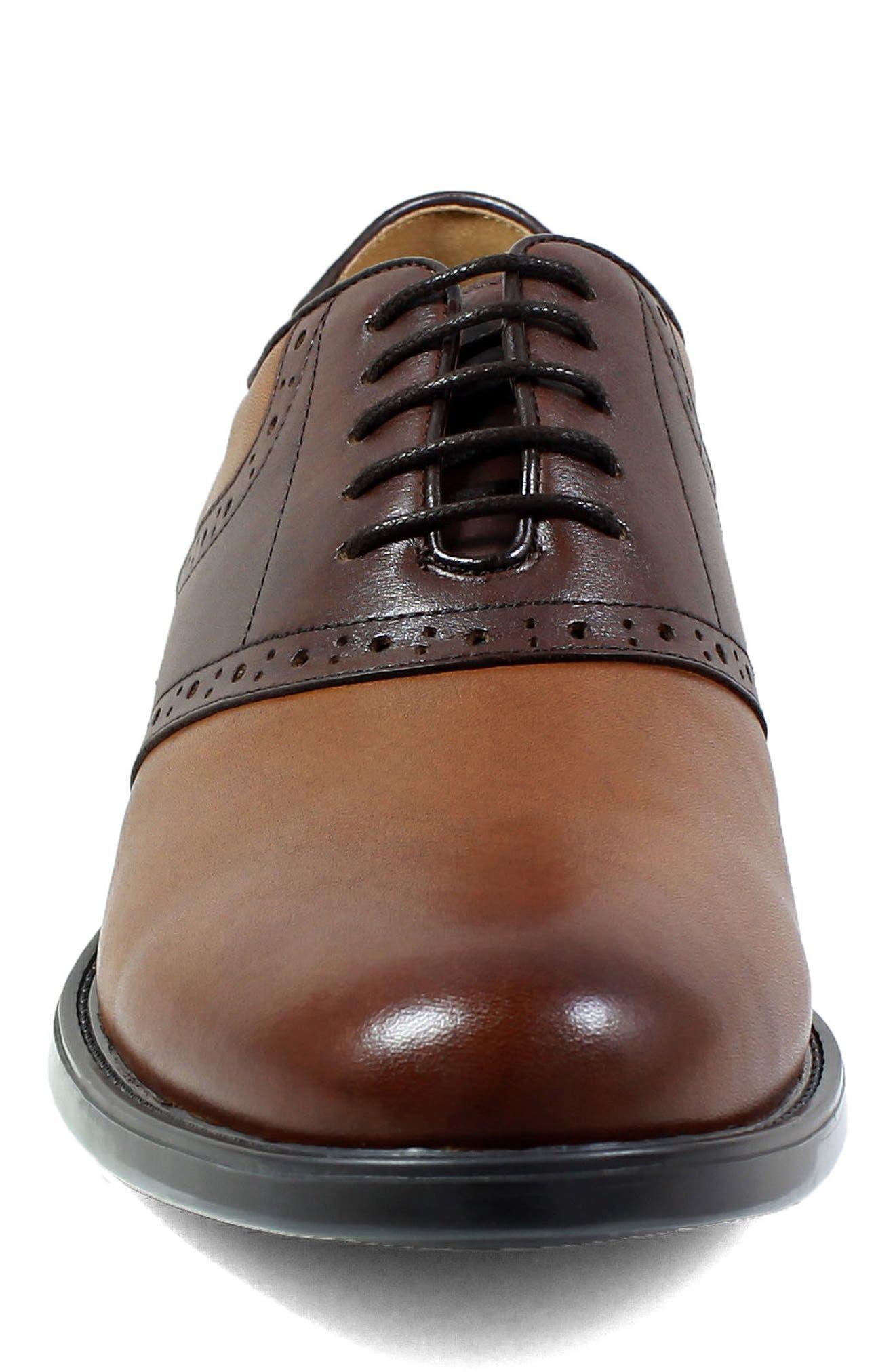 Midtown Saddle Oxford,                             Alternate thumbnail 4, color,                             Cognac Multi