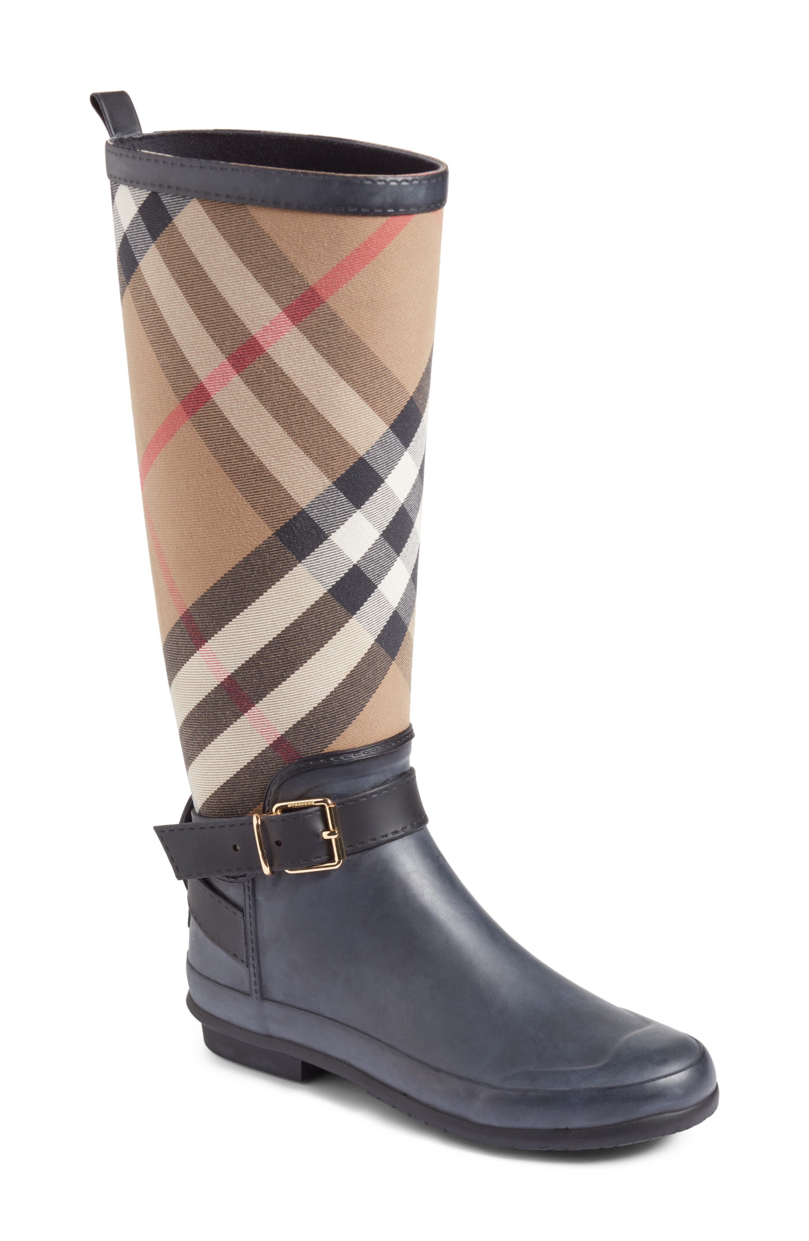 brown burberry boots