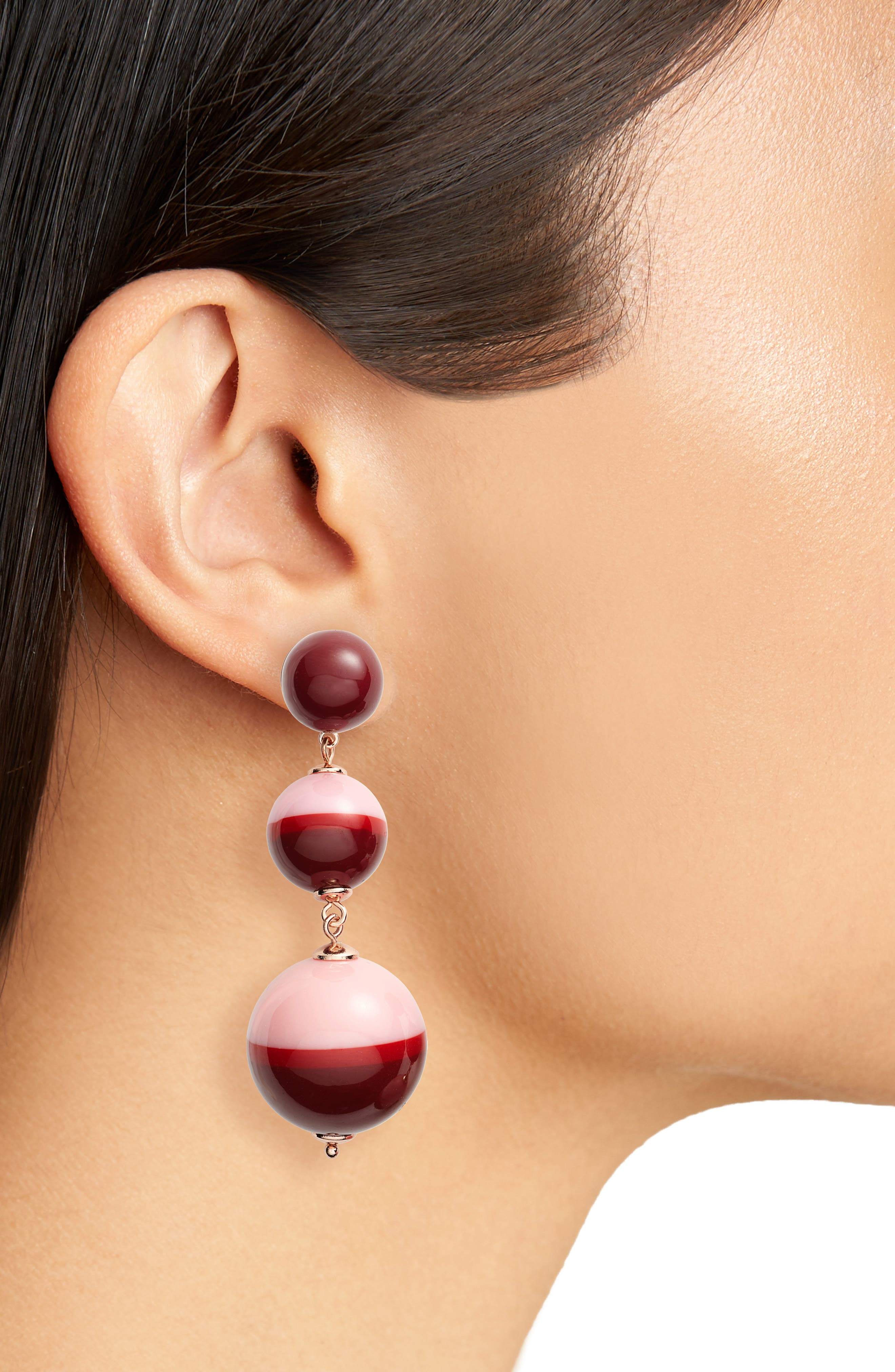 in a flash drop earrings,                             Alternate thumbnail 2, color,                             Berry Multi