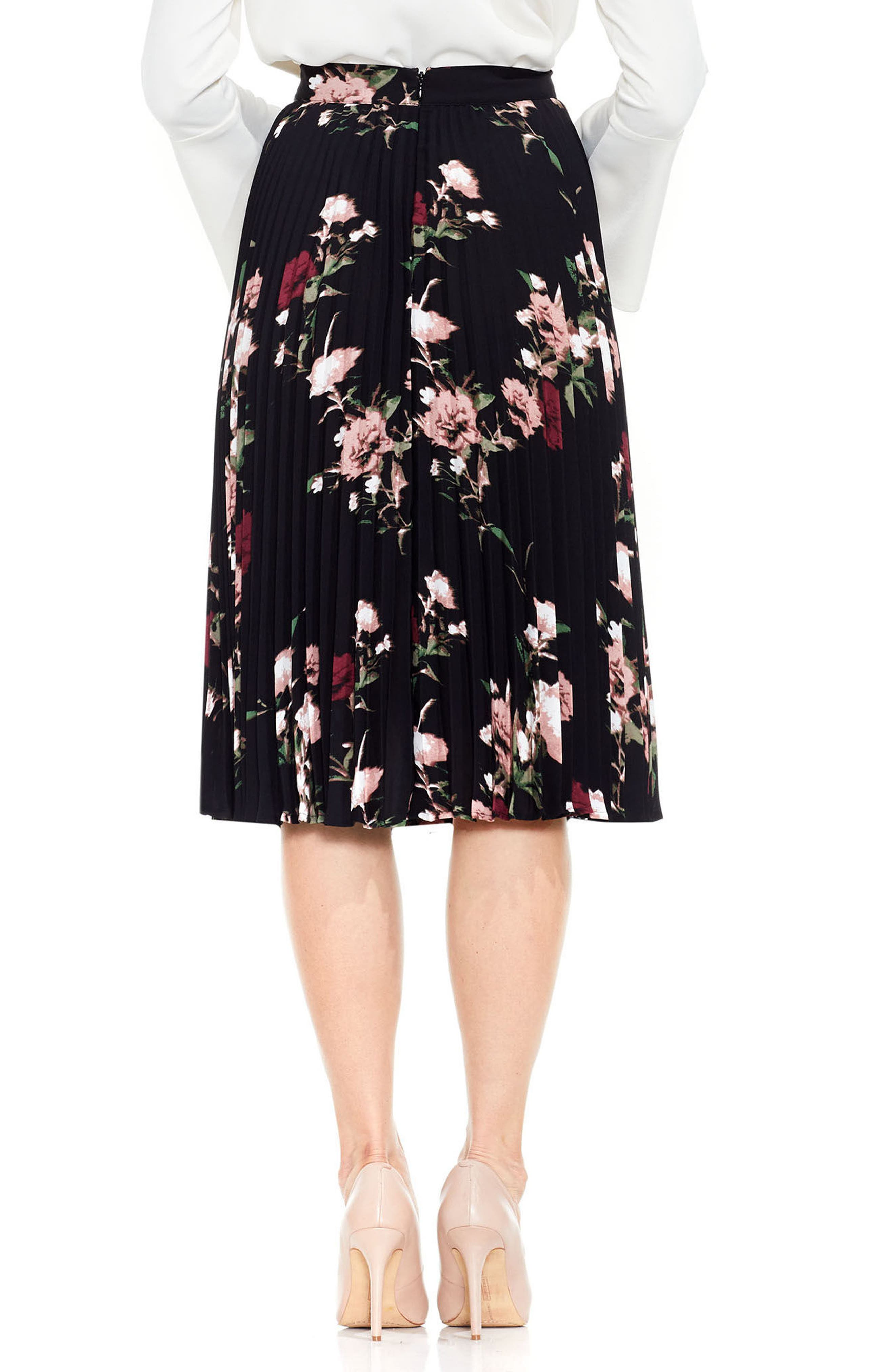 Alternate Image 2  - Vince Camuto Windswept Bouquet Skirt
