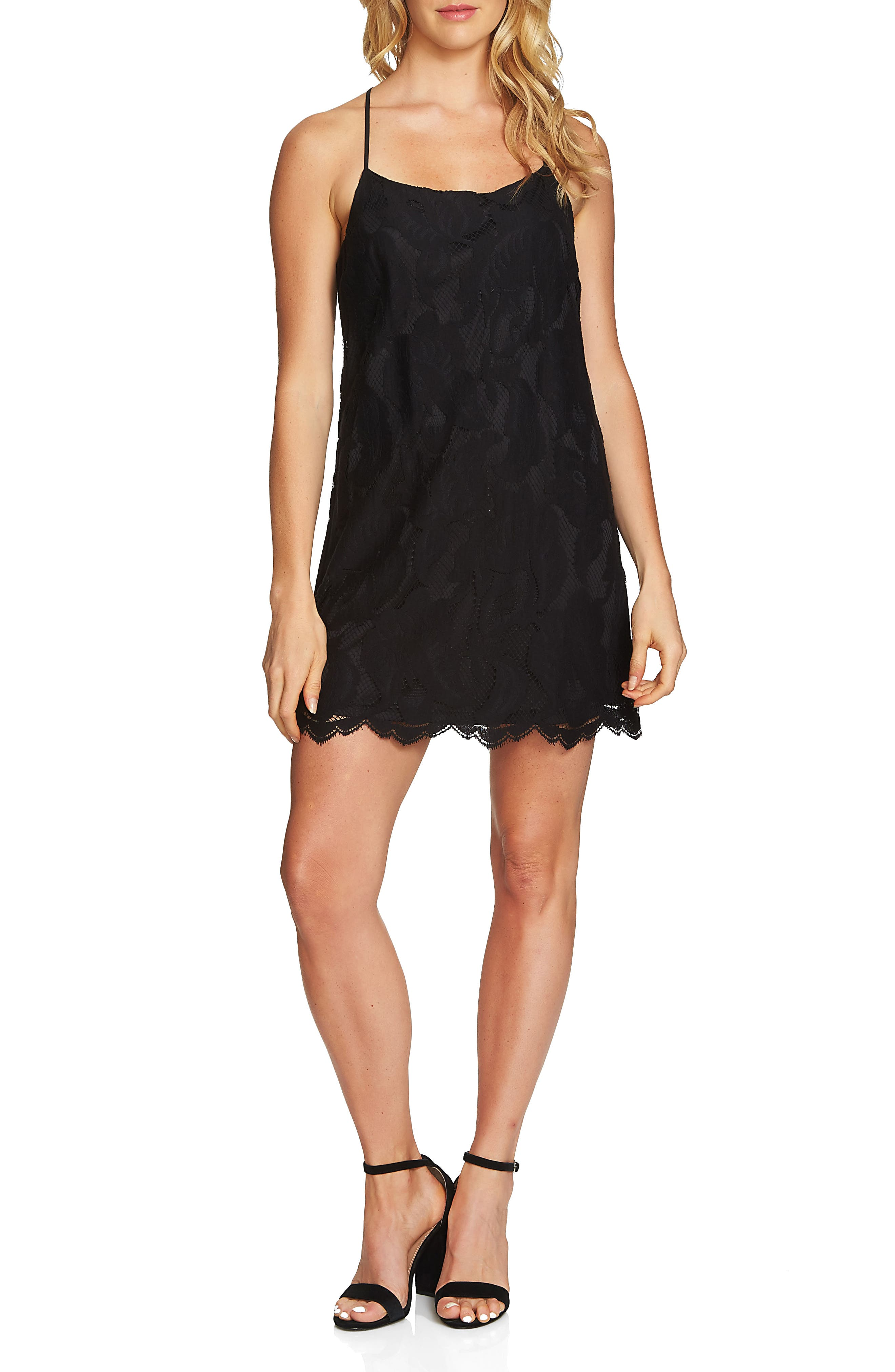 Main Image - 1.STATE Floral Lace Racerback Shift Dress