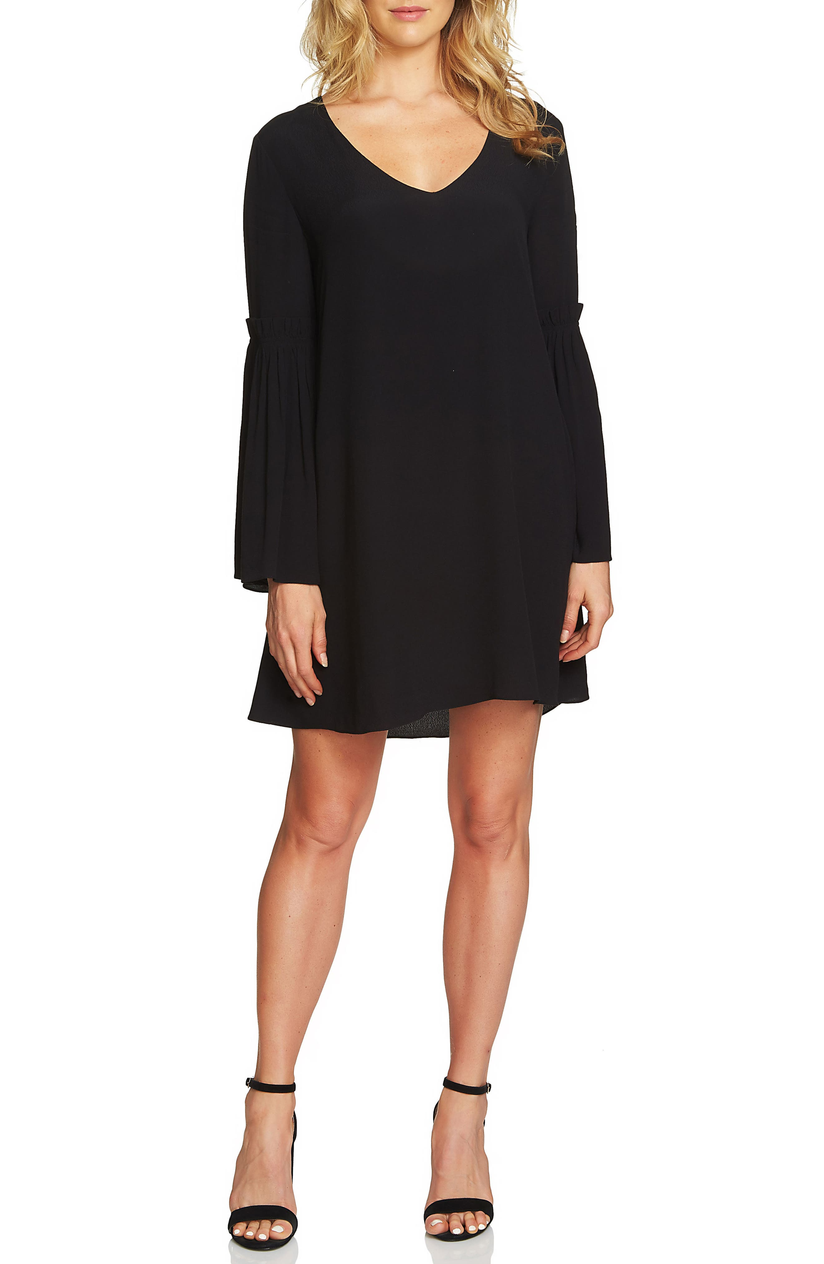 1.STATE Bell Sleeve Swing Dress