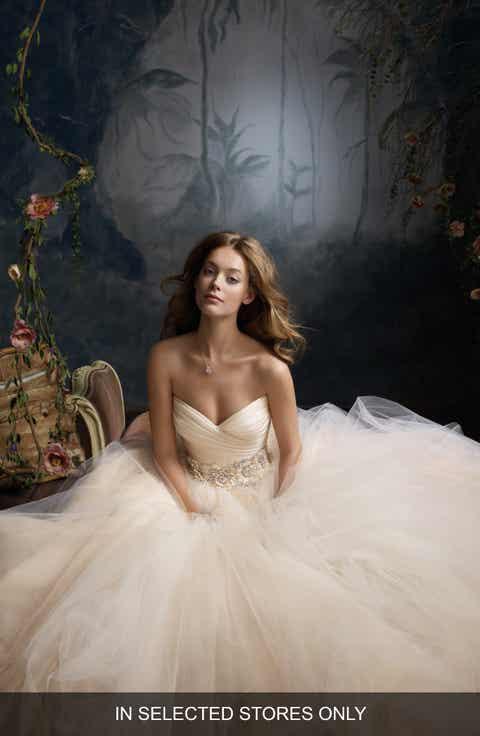 Womens silk wedding dresses bridal gowns nordstrom lazaro strapless silk organza tulle ballgown junglespirit Gallery