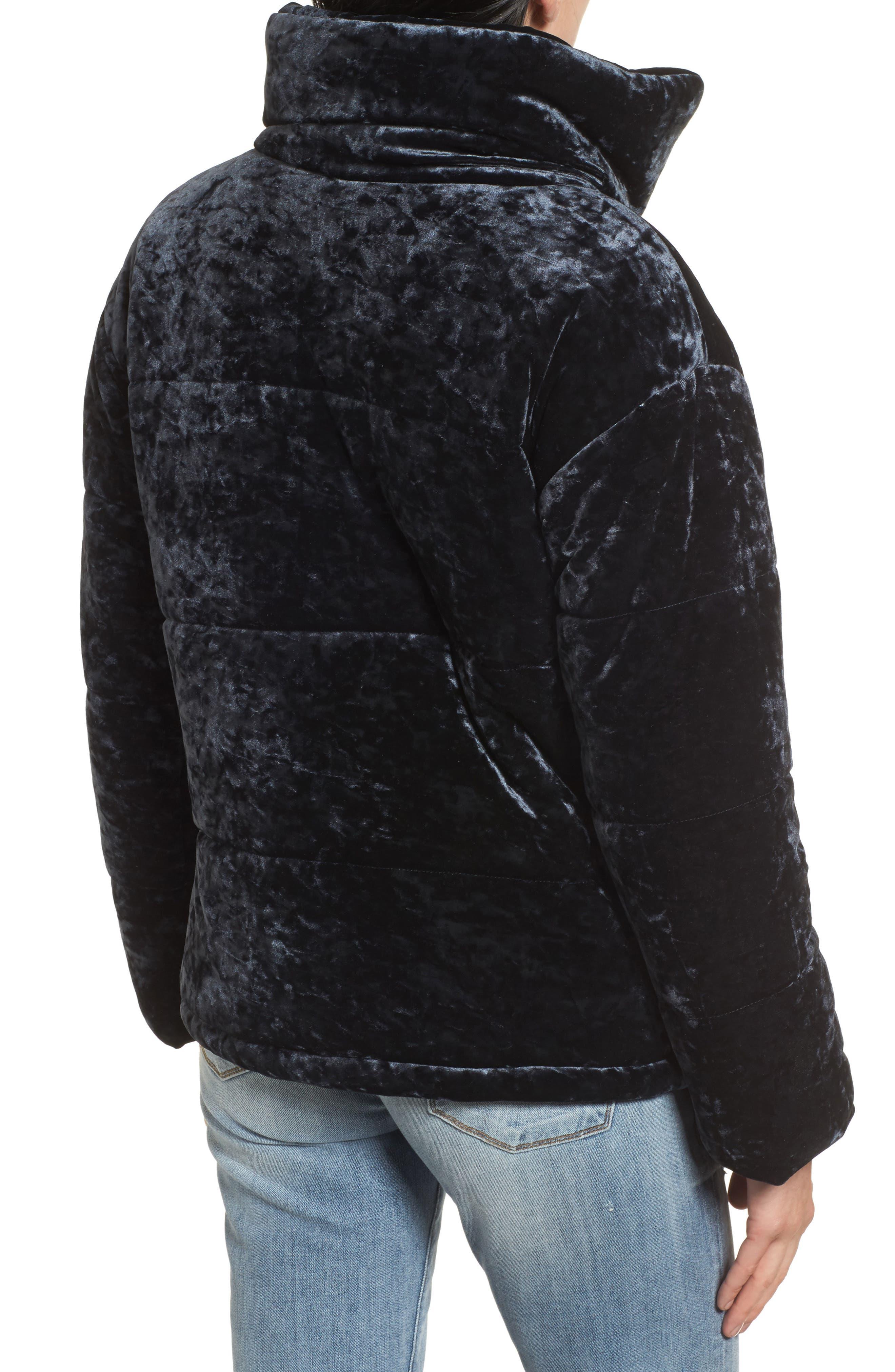 Alternate Image 2  - Bernardo Oversize Velvet Bomber Jacket
