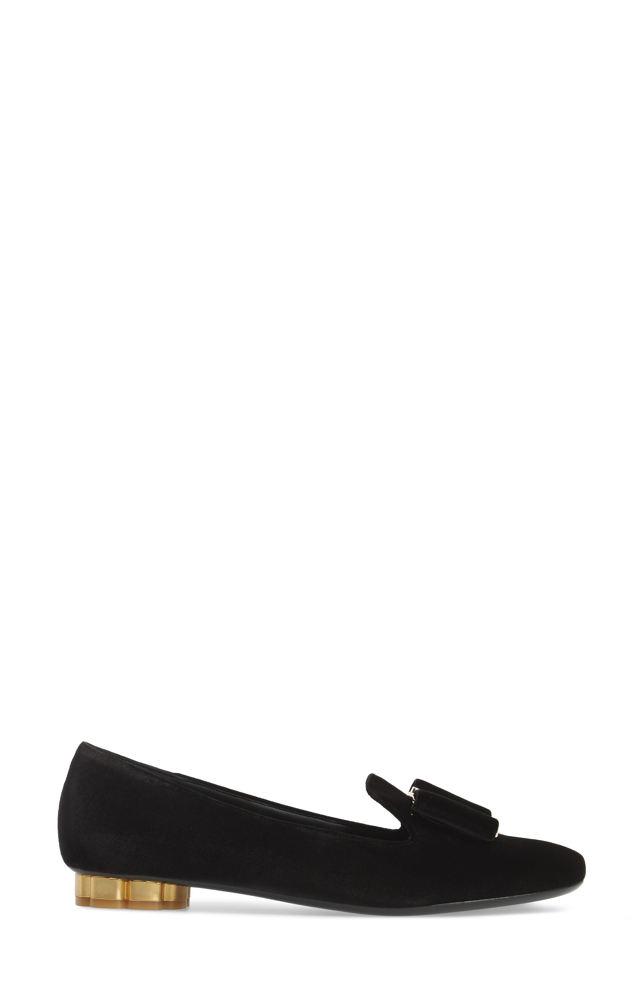 Alternate Image 3  - Salvatore Ferragamo Sarno Flower Heel Smoking Loafer (Women)