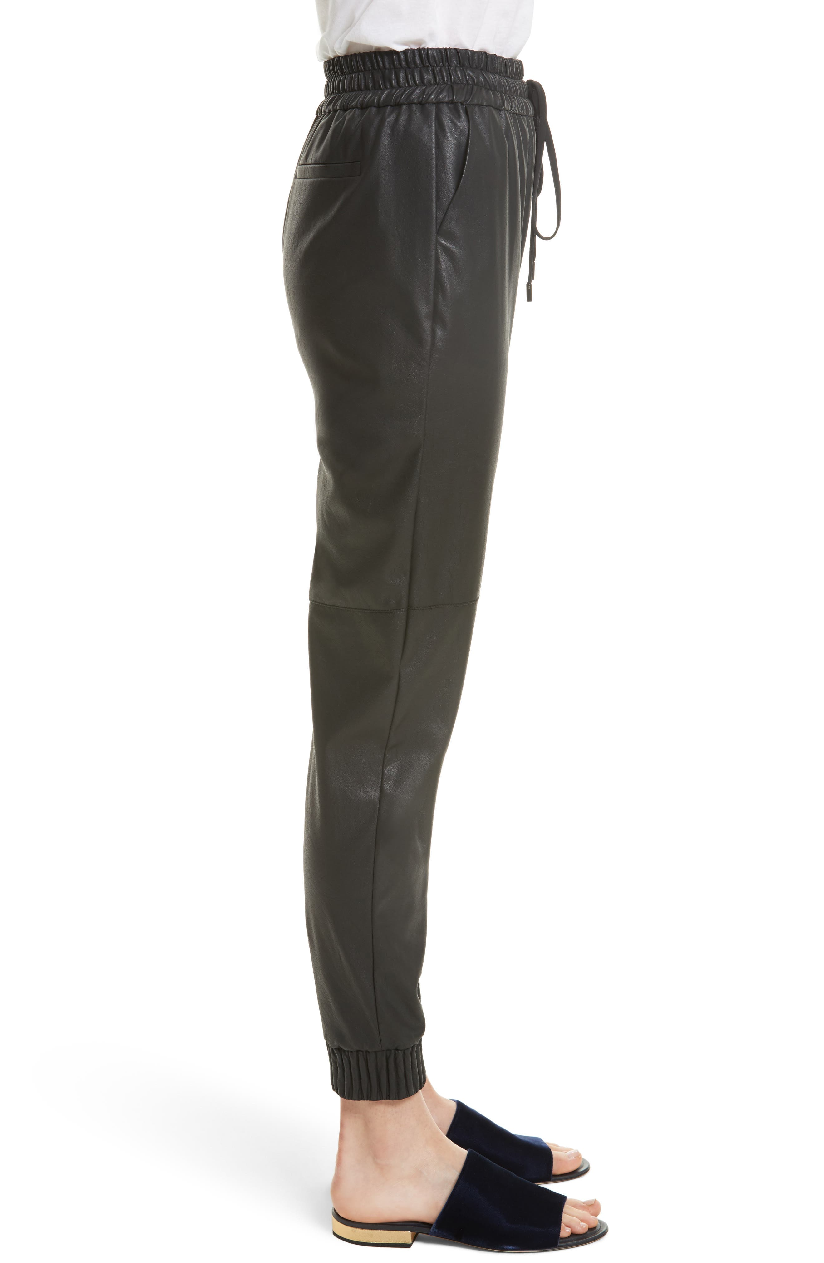 Alternate Image 3  - Rebecca Taylor Faux Leather Track Pants