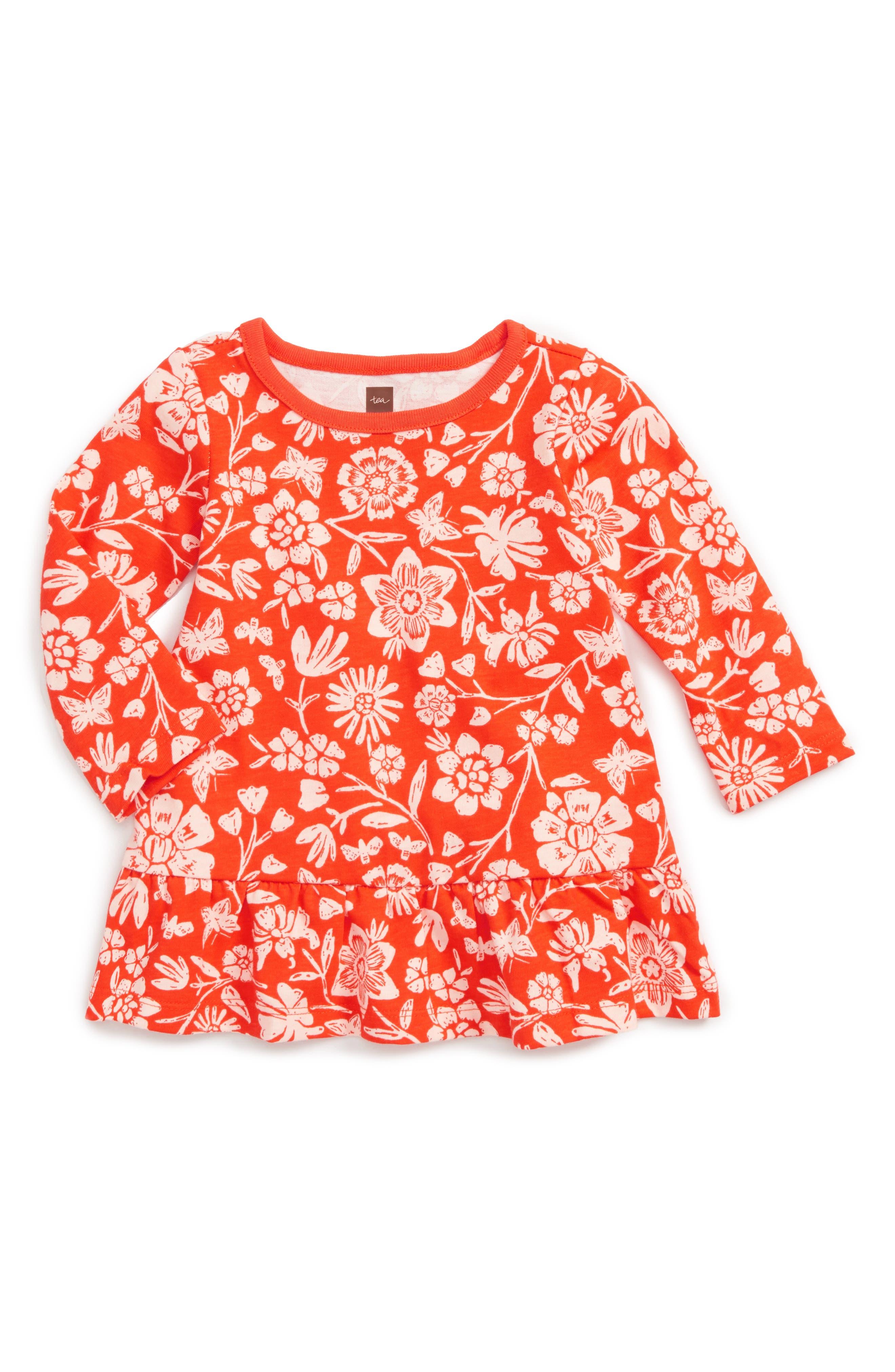 Tea Collection Holly Drop Waist Dress (Baby Girls)