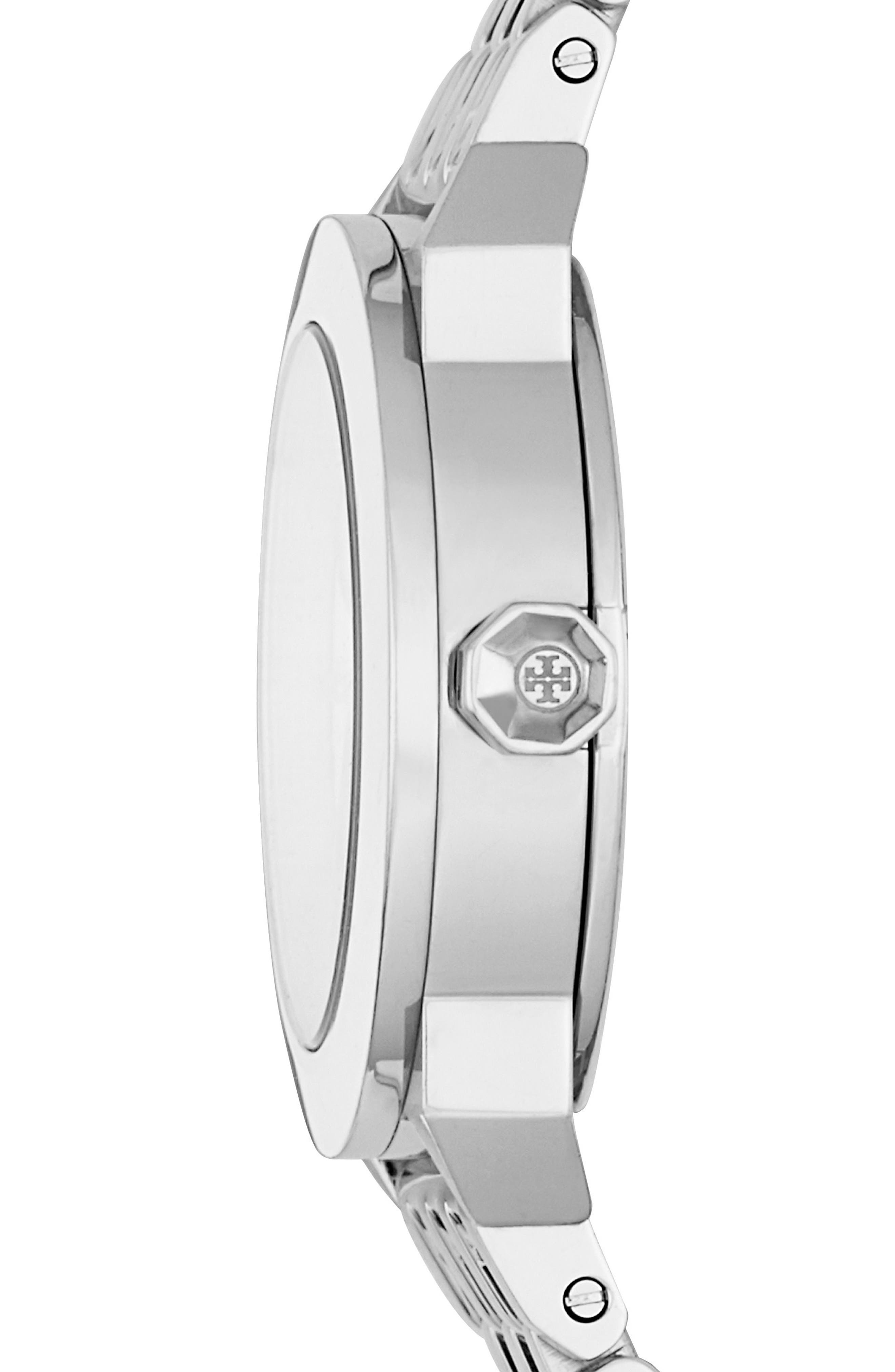 Whitney Bracelet Watch, 28mm,                             Alternate thumbnail 2, color,                             Silver/ Ivory/ Silver