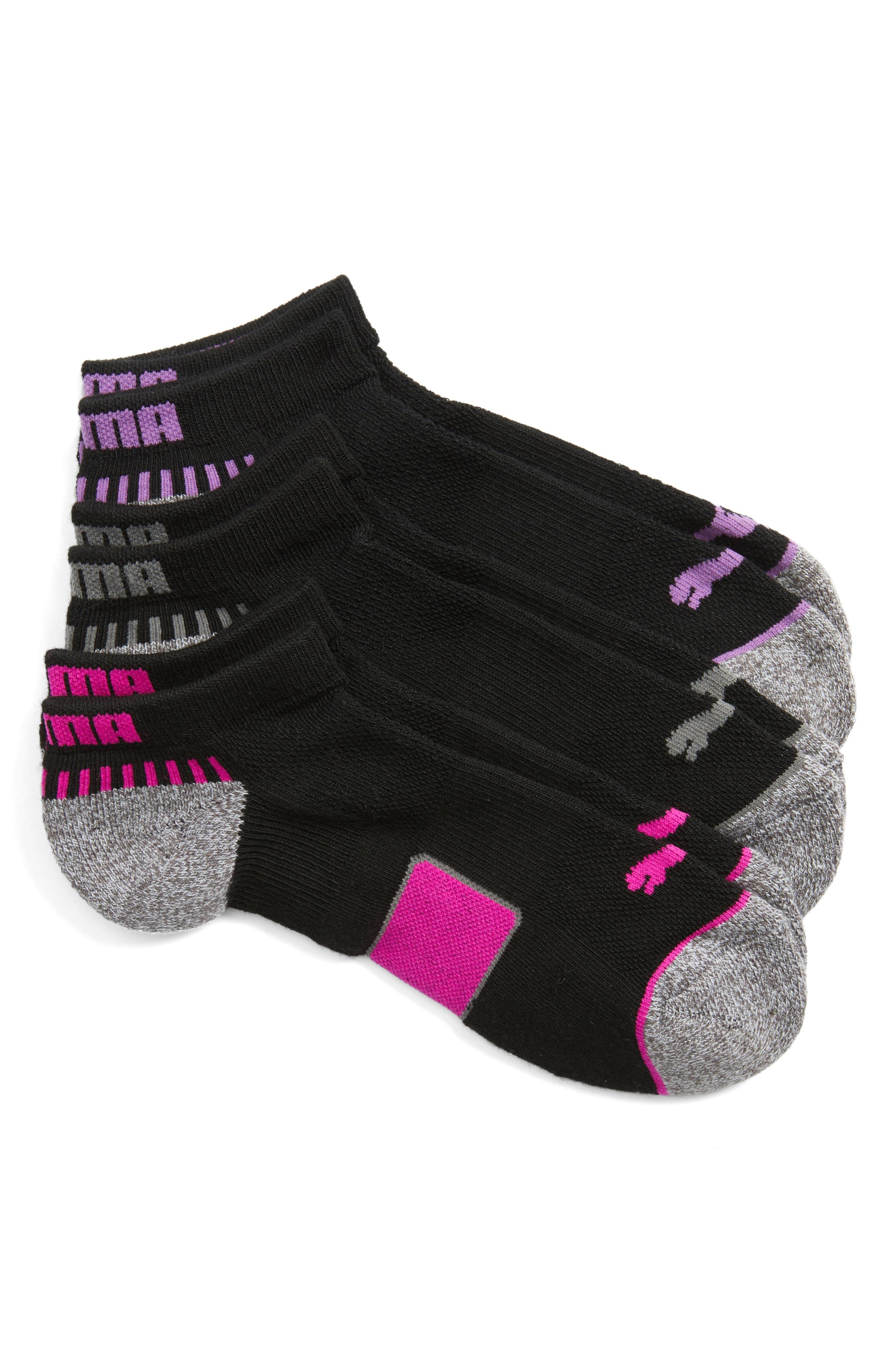 PUMA 3-Pack Low Cut Footie Socks