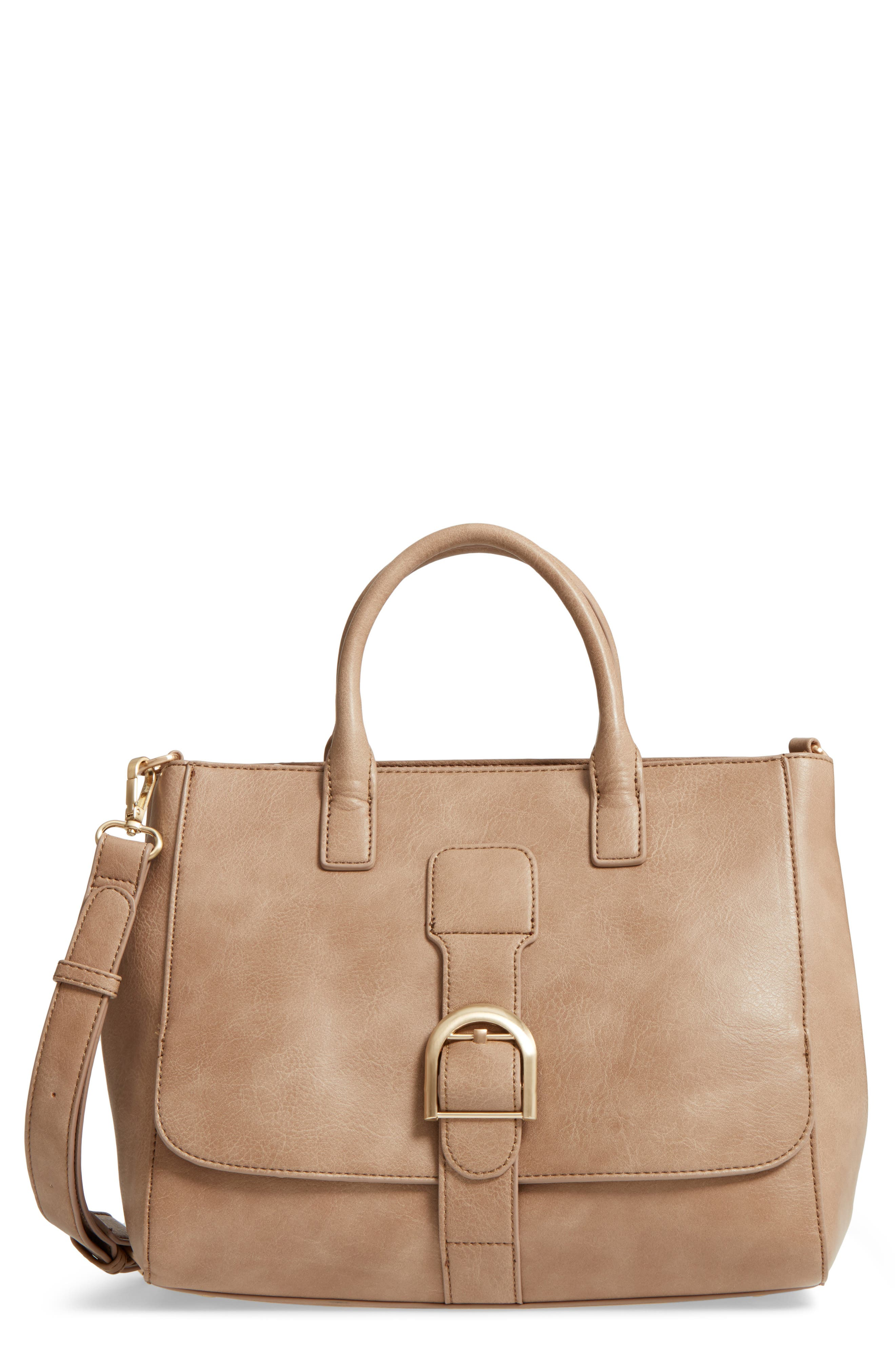 Main Image - Sole Society Zola Faux Leather Satchel