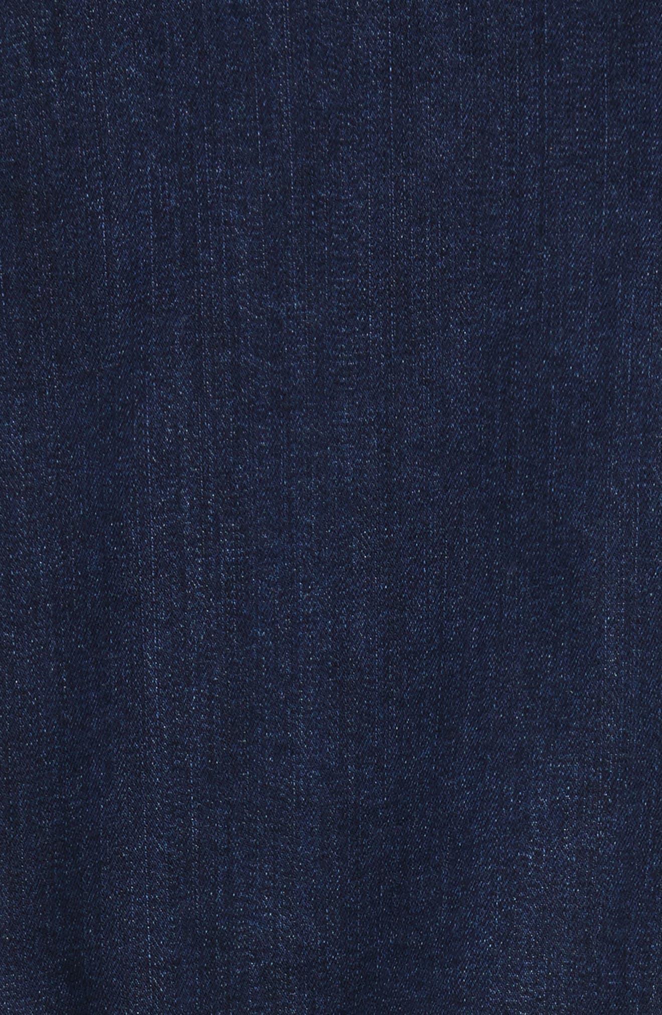 Asymmetrical Wrap Denim Skirt,                             Alternate thumbnail 4, color,                             Sea Blue Wash
