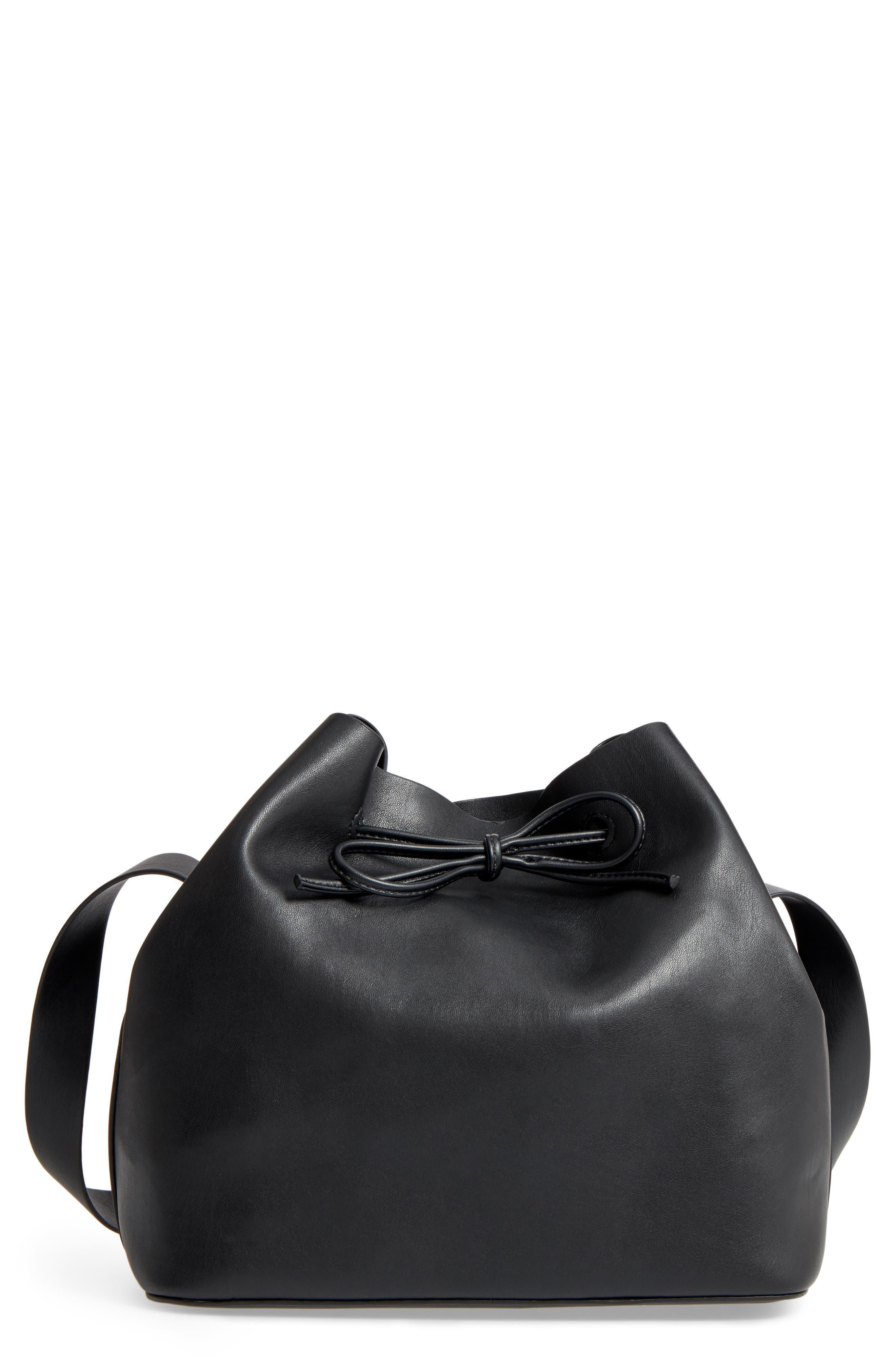 Topshop Stella Faux Leather Bucket Bag