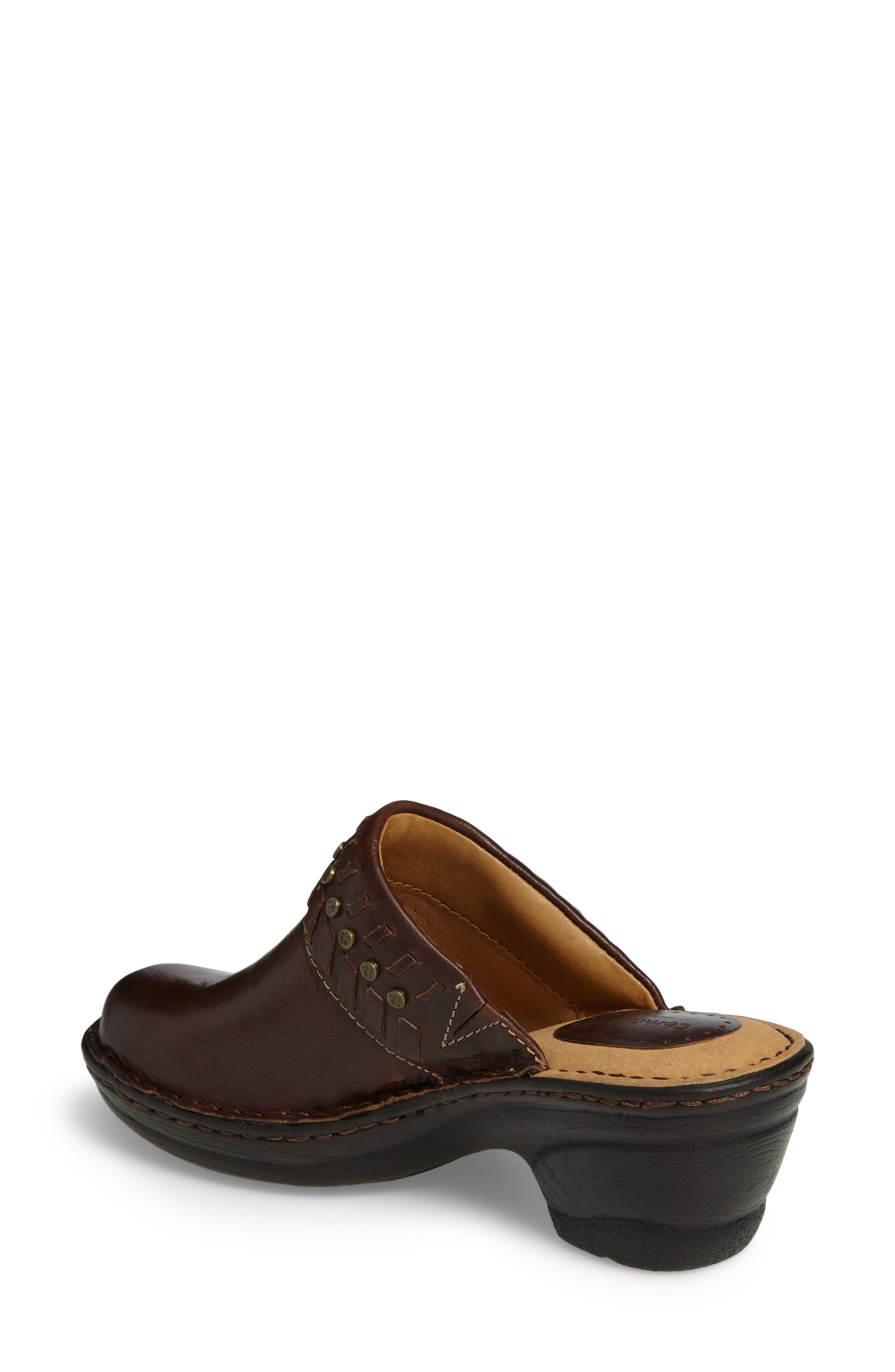 Lorain Clog,                             Alternate thumbnail 2, color,                             Bridle Brown Leather