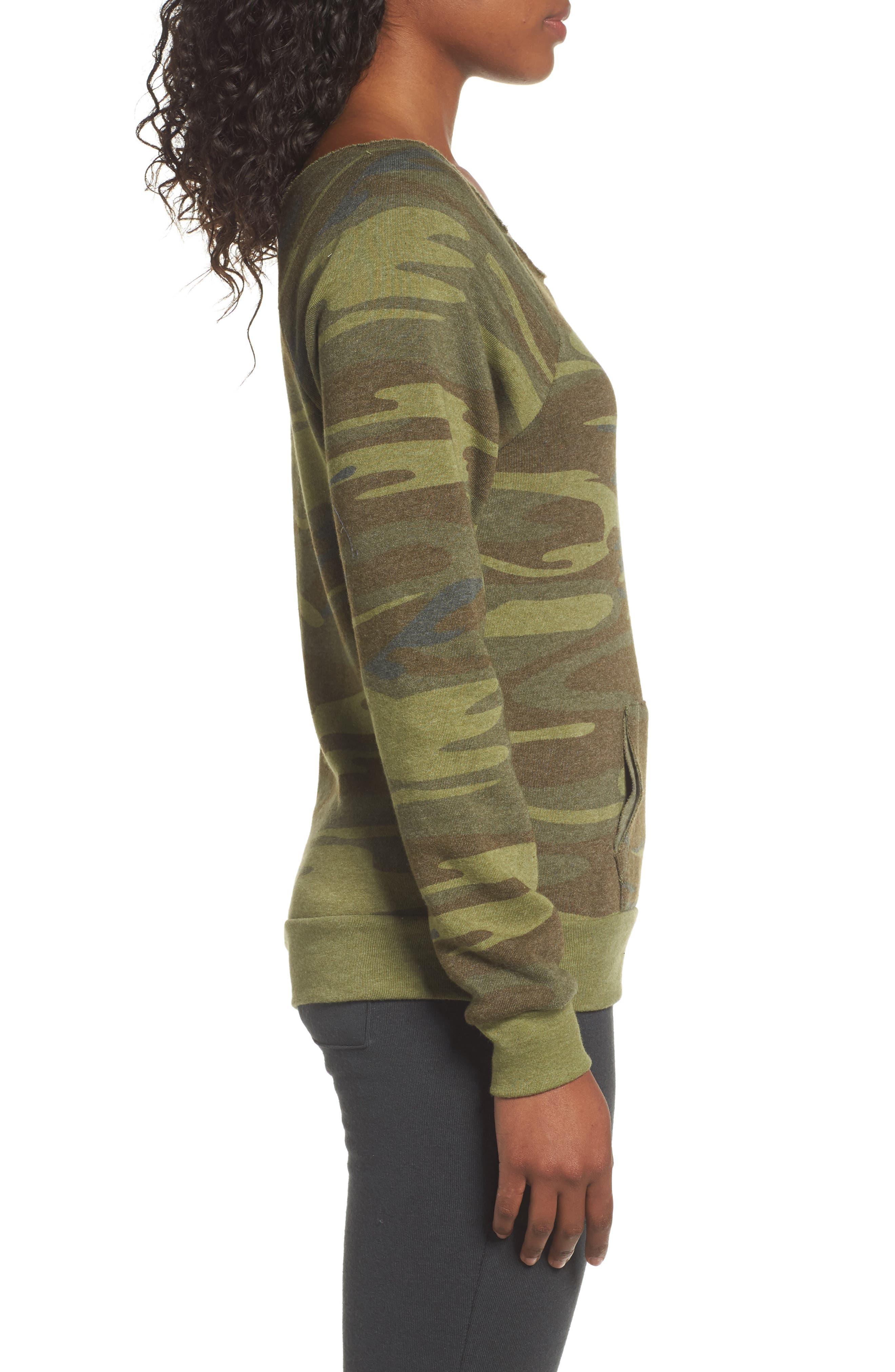 Alternate Image 3  - Alternative Maniac Camo Fleece Sweatshirt