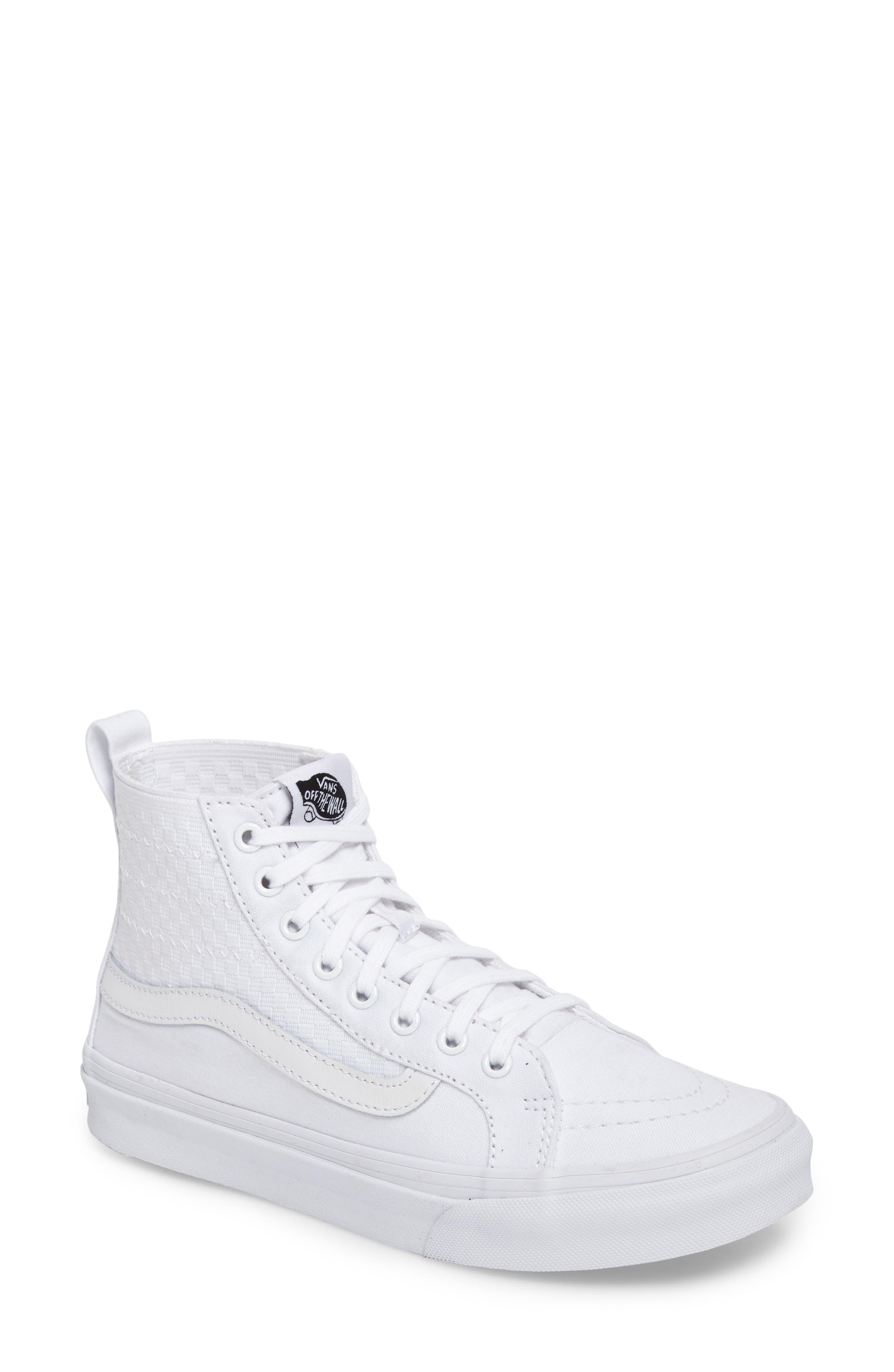 vans pink and white. vans sk8-hi slim gore sneaker (women) pink and white