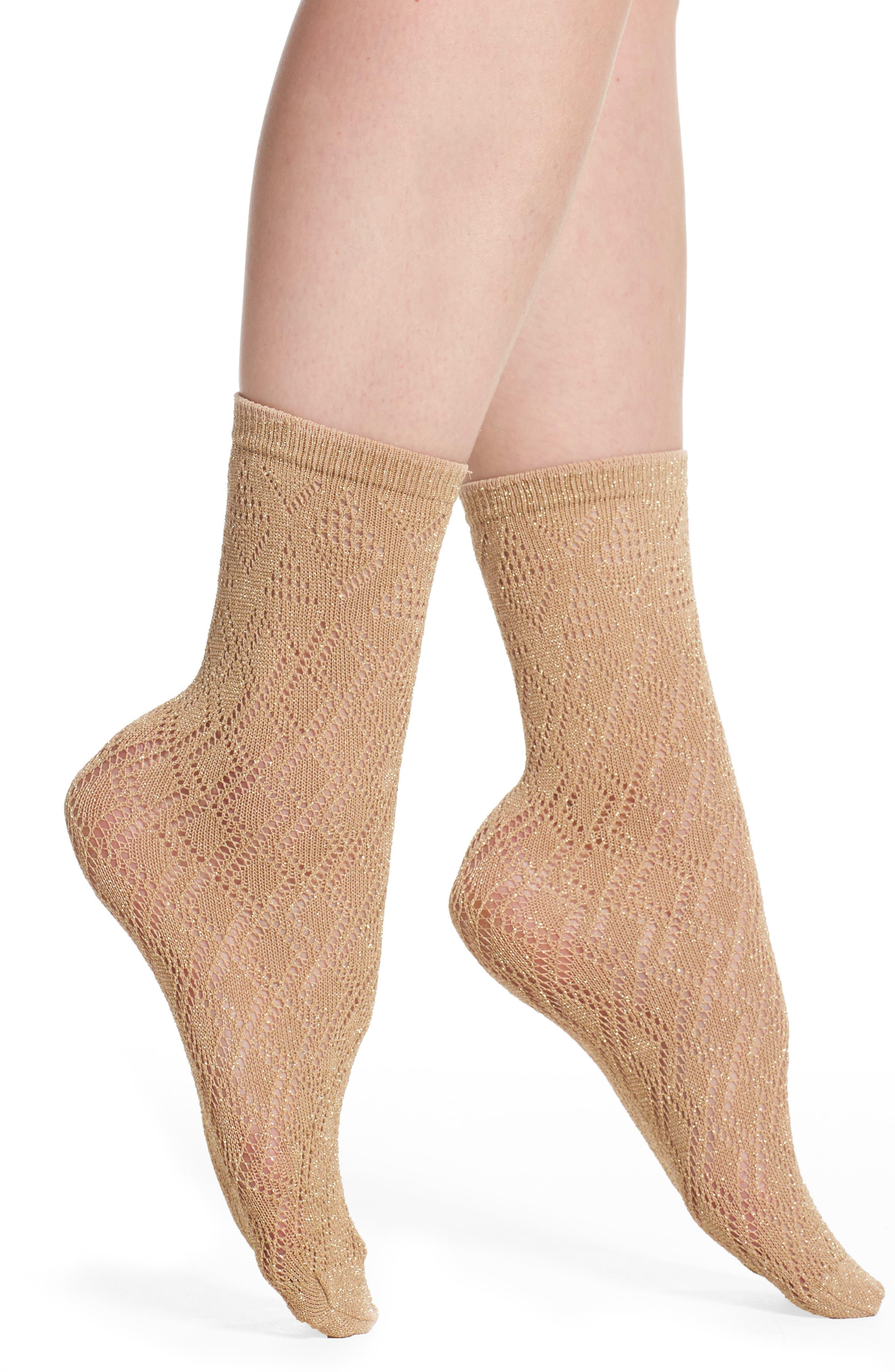 Kathy Trouser Socks,                         Main,                         color, Gold