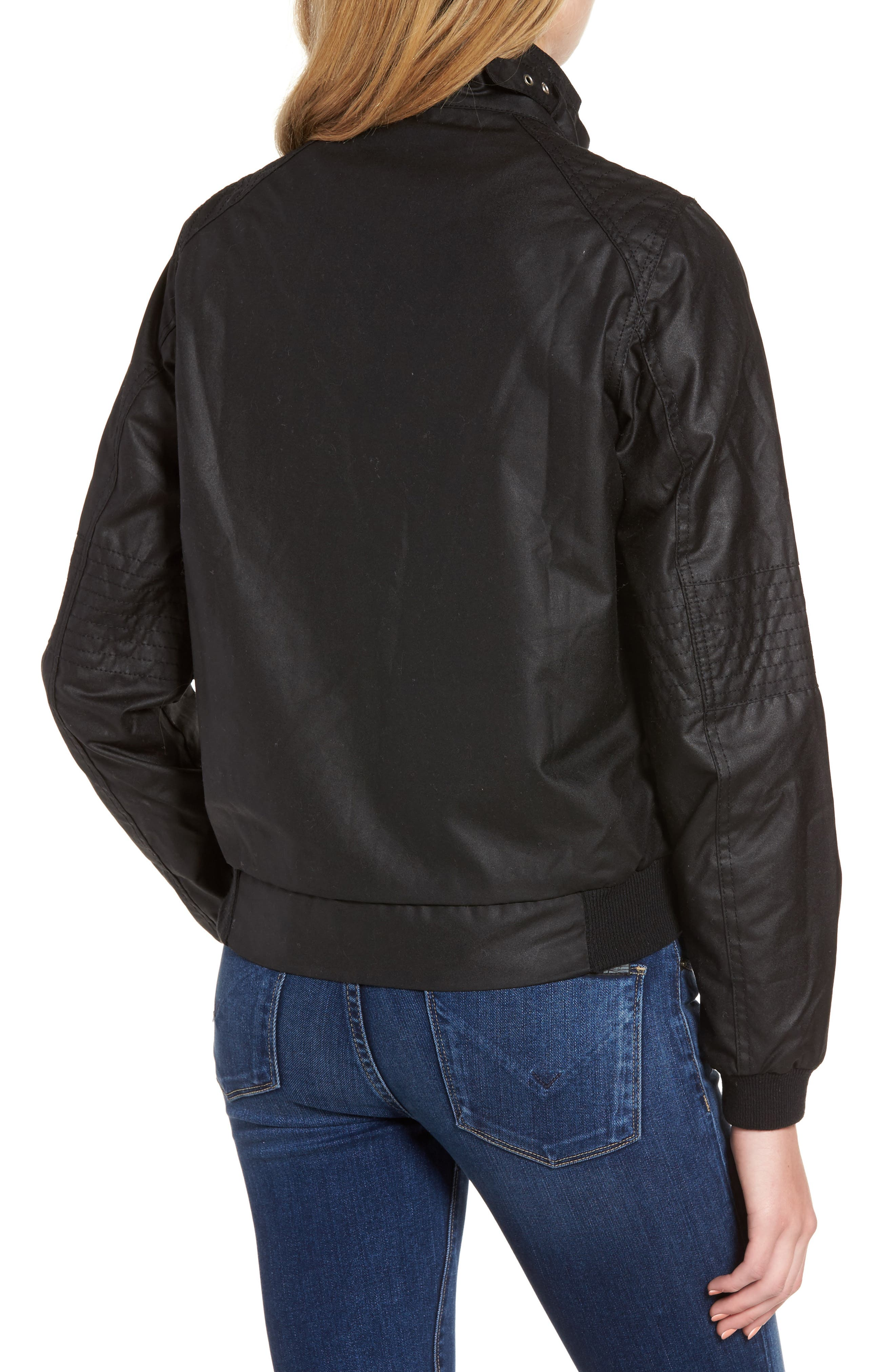 Alternate Image 2  - Barbour Tain Waxed Bomber Jacket