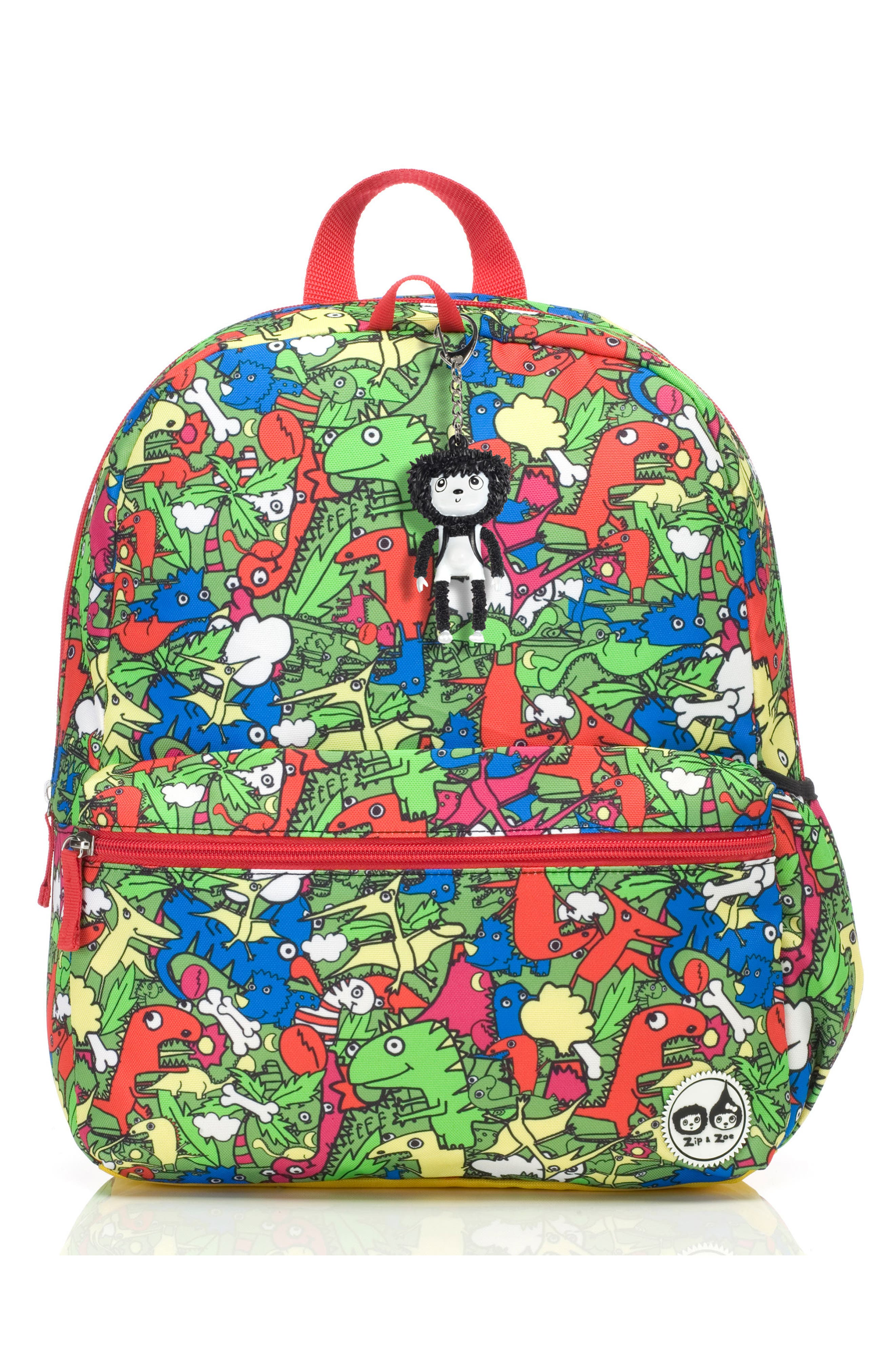 Zip & Zoe Junior Backpack Set,                             Alternate thumbnail 10, color,                             Dino Multi/ Dylan