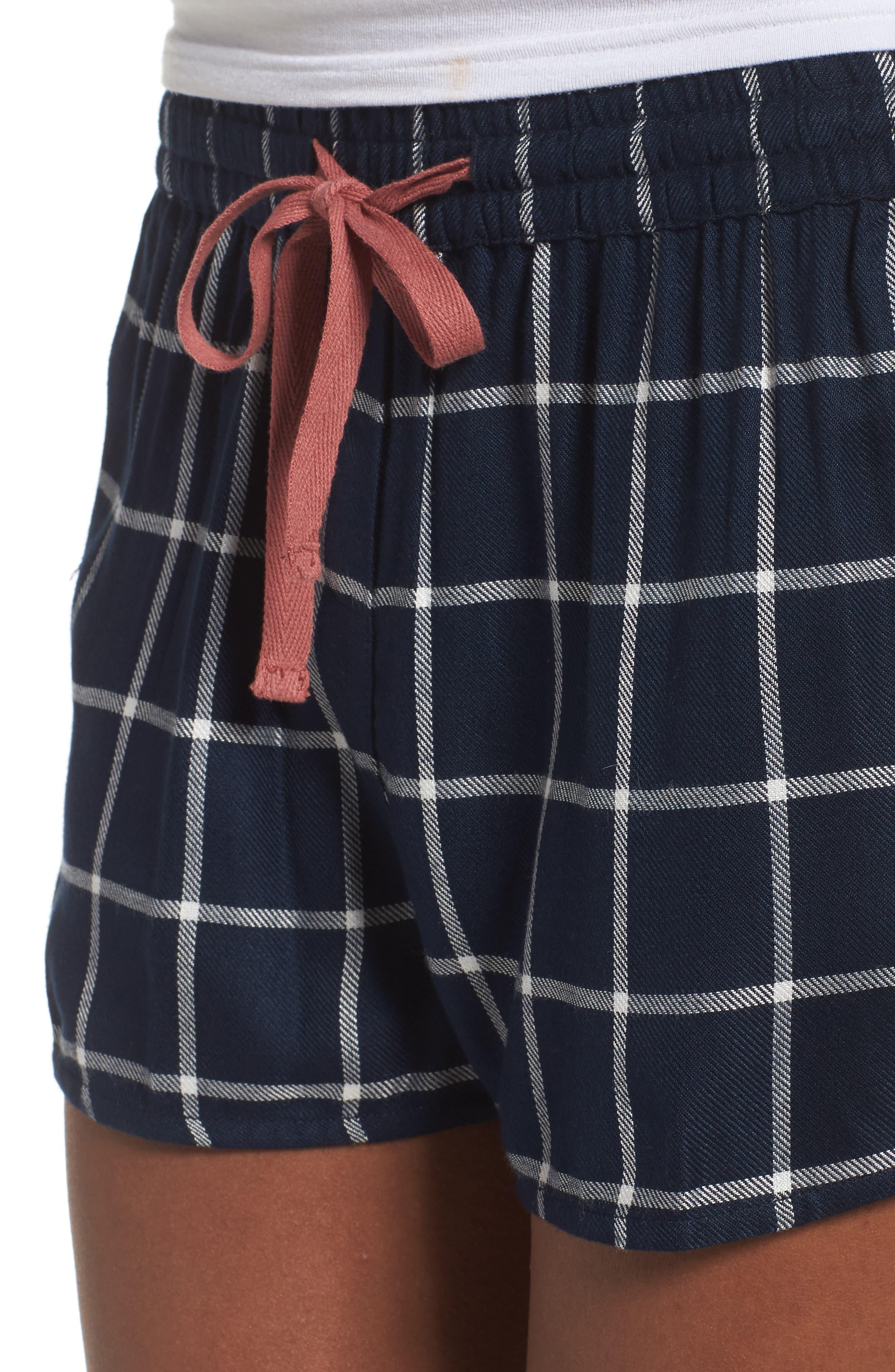 Alternate Image 4  - Topshop Windowpane Check Pajama Shorts