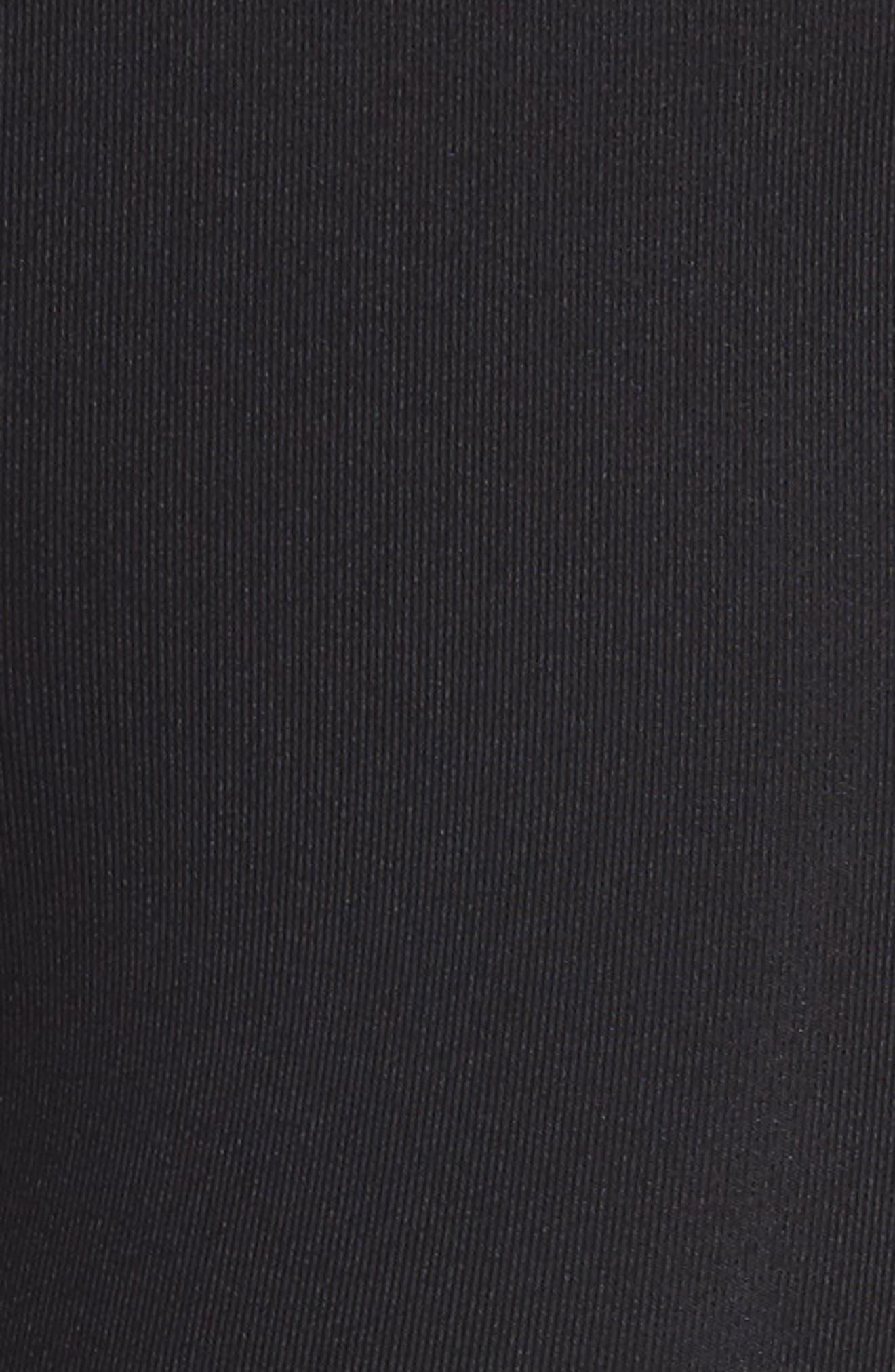 High Rise Lucent Crop Leggings,                             Alternate thumbnail 6, color,                             Black