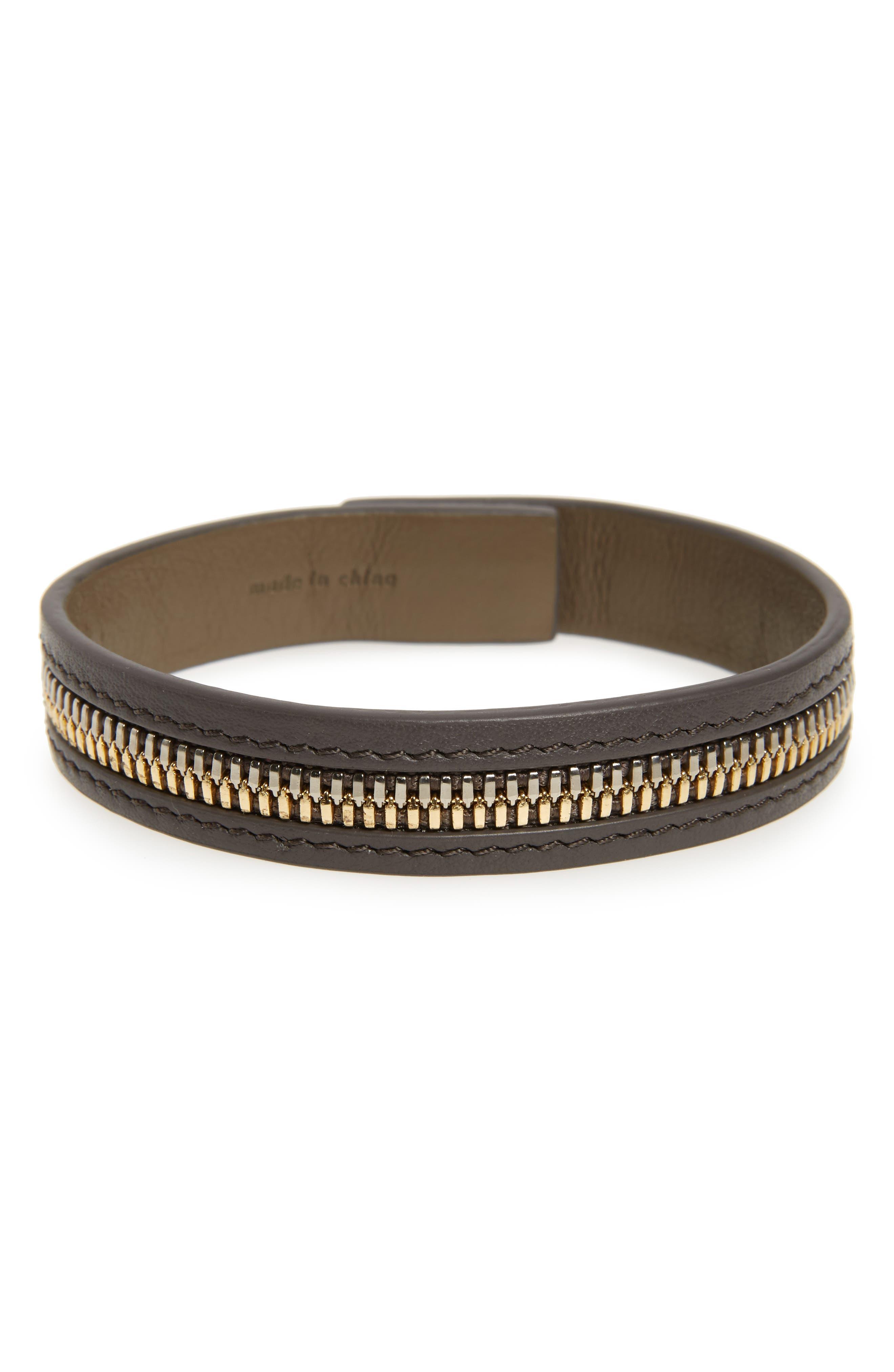 WANT LES ESSENTIELS 'Tambo' Zip Leather Bracelet