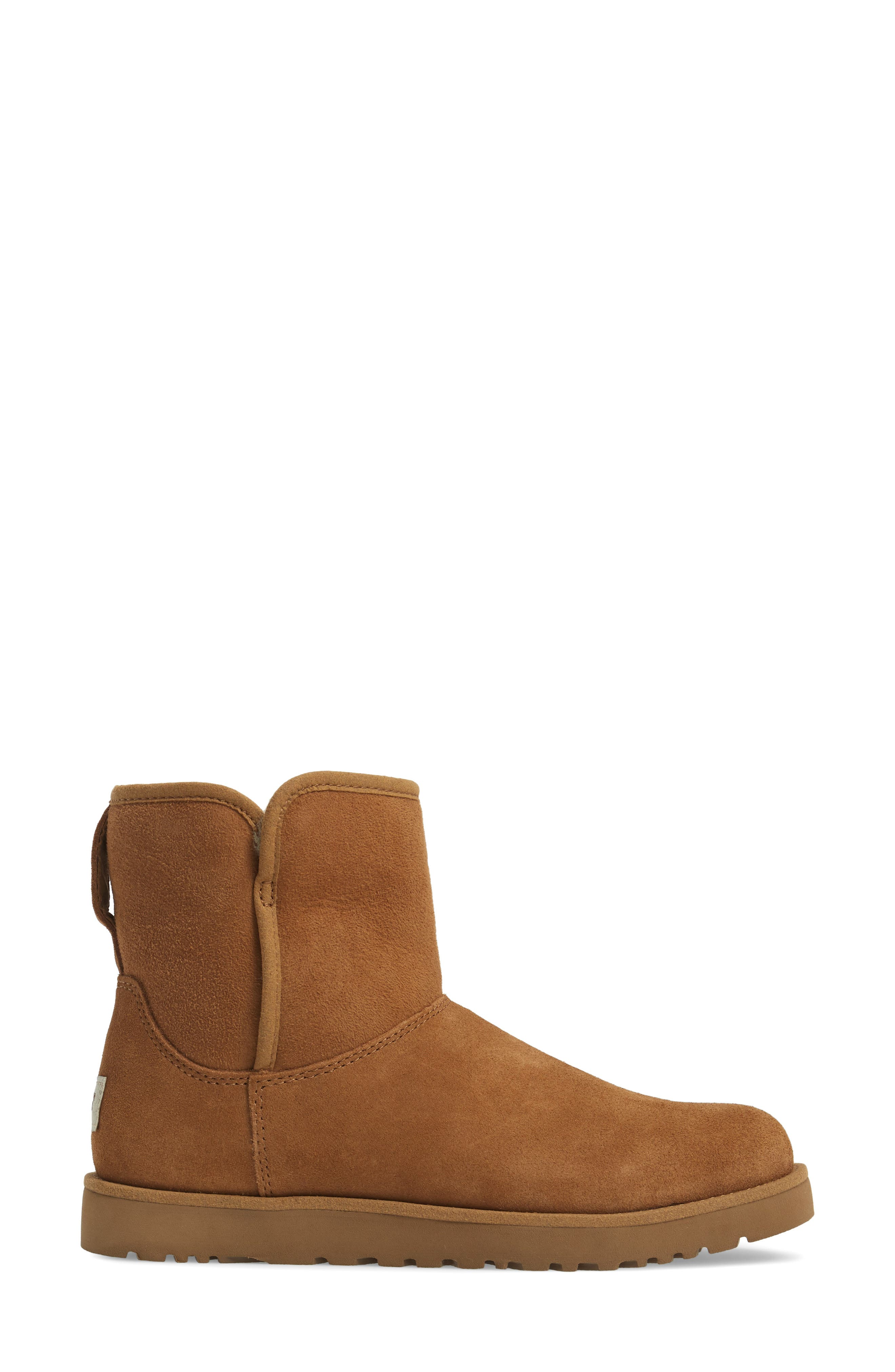 'Cory' Short Boot,                             Alternate thumbnail 3, color,                             Chestnut Suede