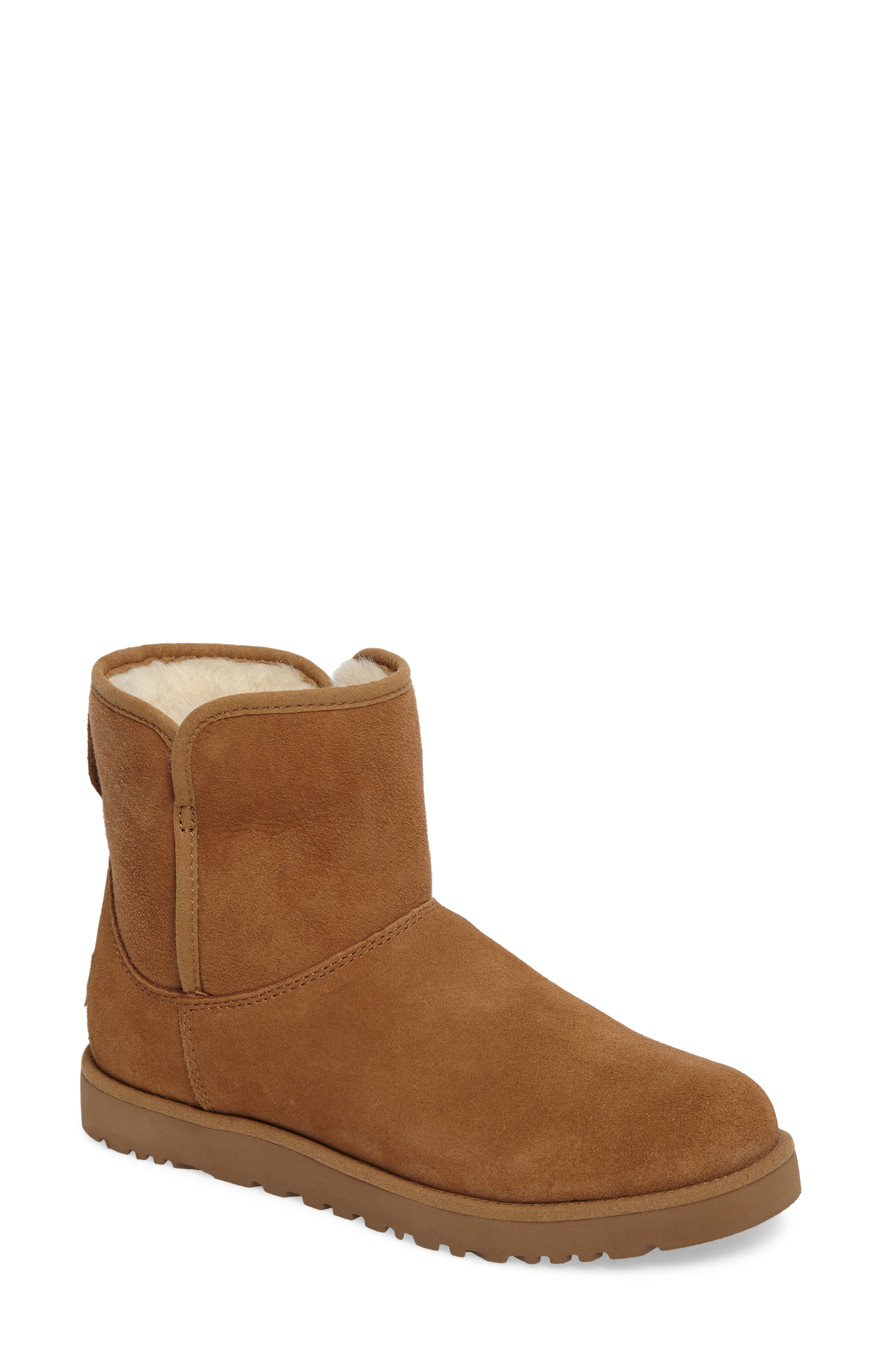 'Cory' Short Boot,                             Main thumbnail 1, color,                             Chestnut Suede