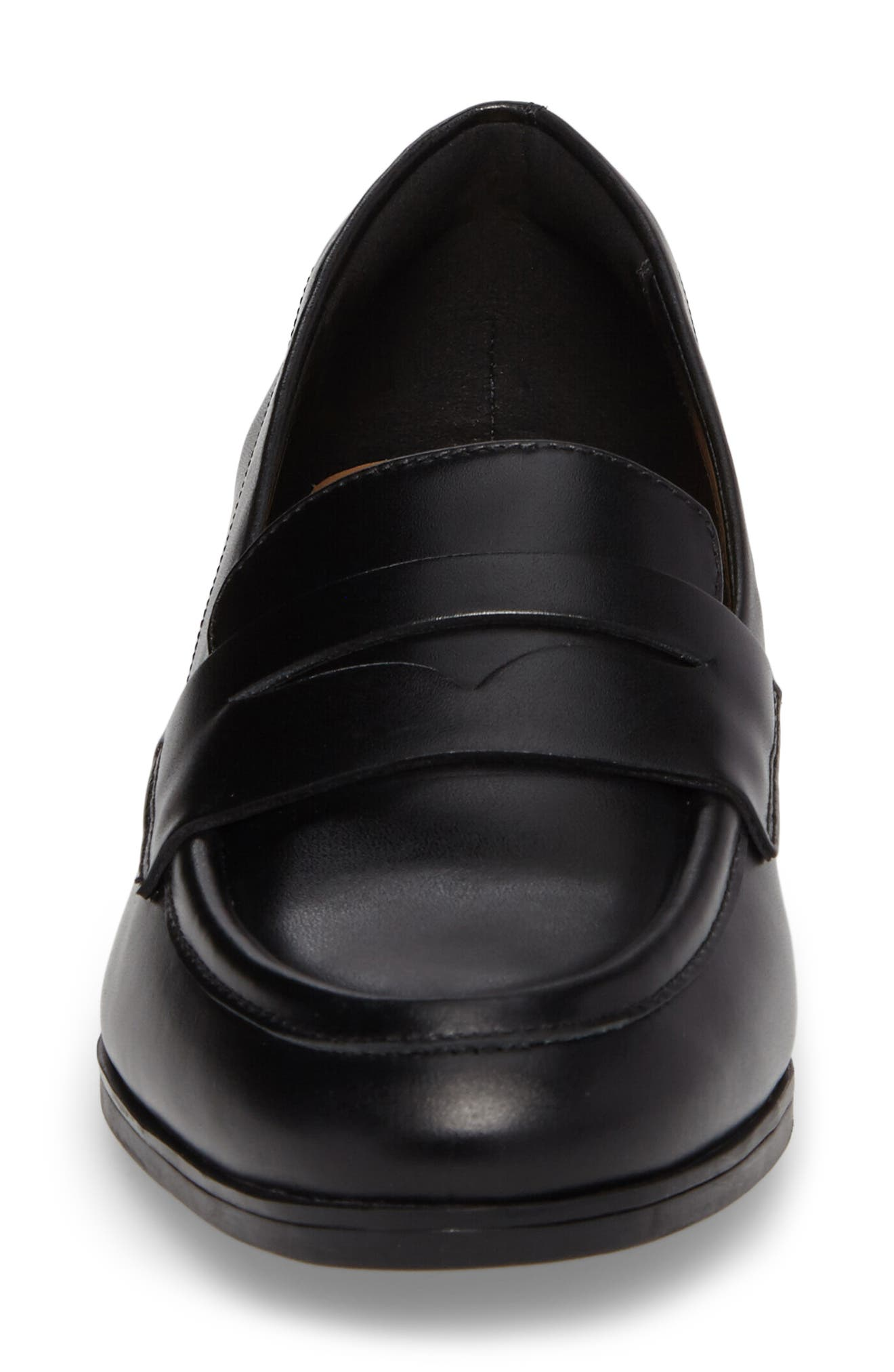 Tilmont Zoe Loafer,                             Alternate thumbnail 4, color,                             Black Leather