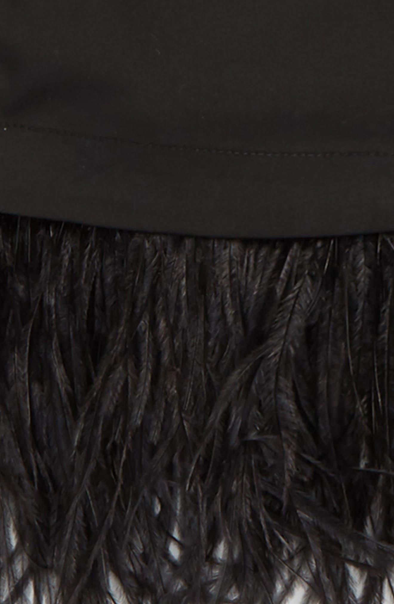 Alternate Image 2  - Milly Minis Feather Trim Shirt (Big Girls)