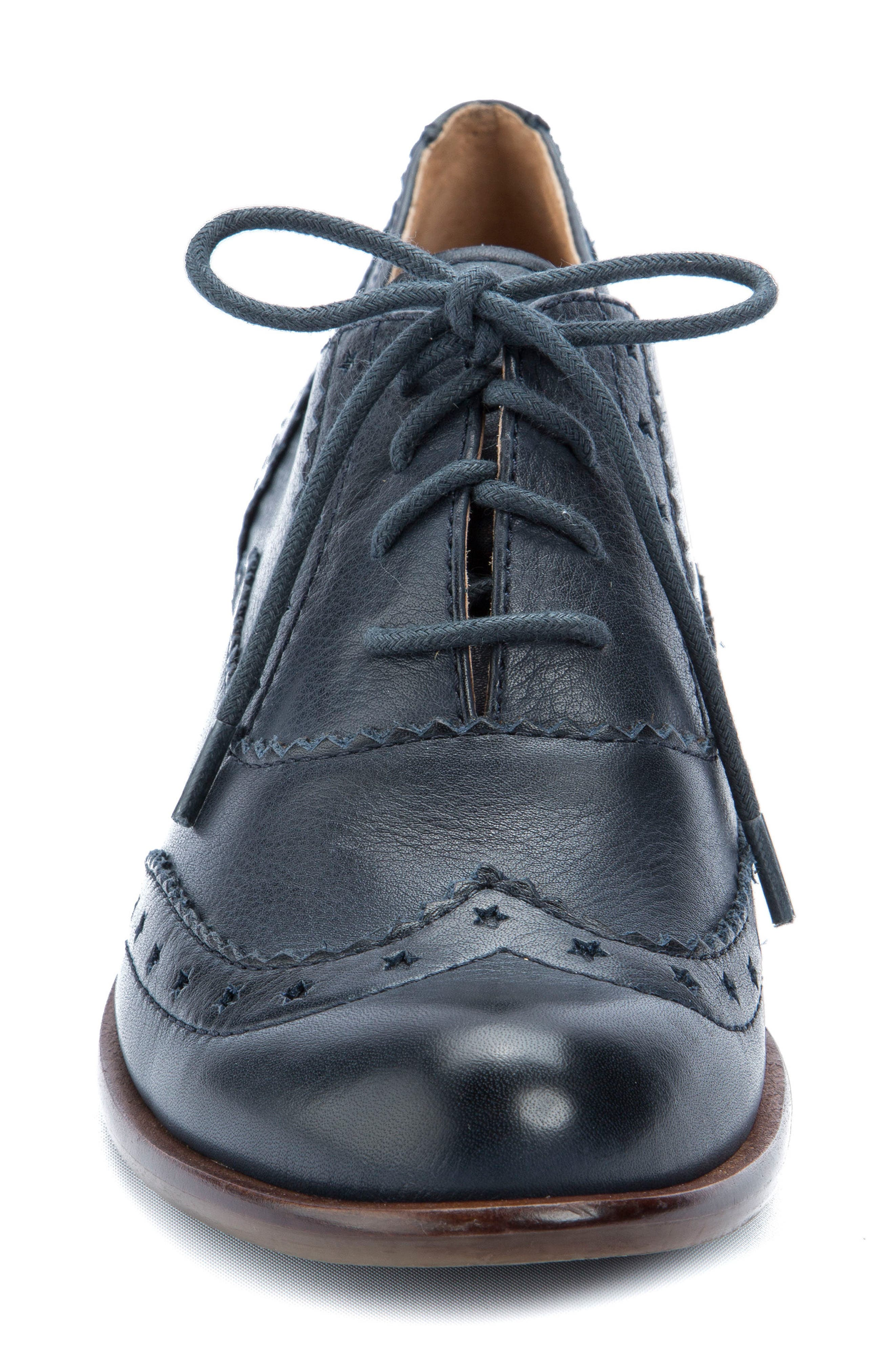 Heart Lace-Up Loafer,                             Alternate thumbnail 4, color,                             Navy