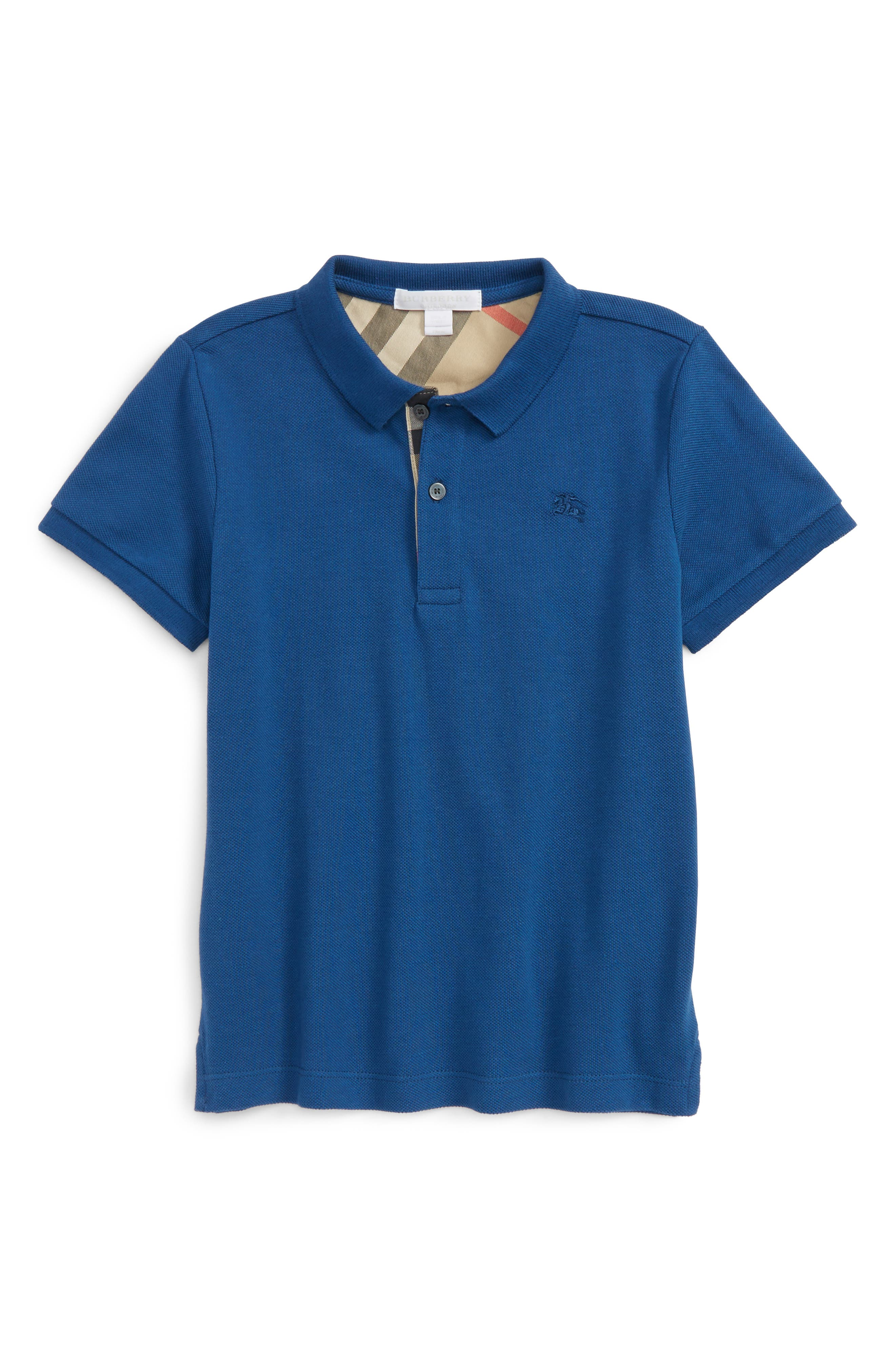 Cotton Polo,                         Main,                         color, Marine Blue
