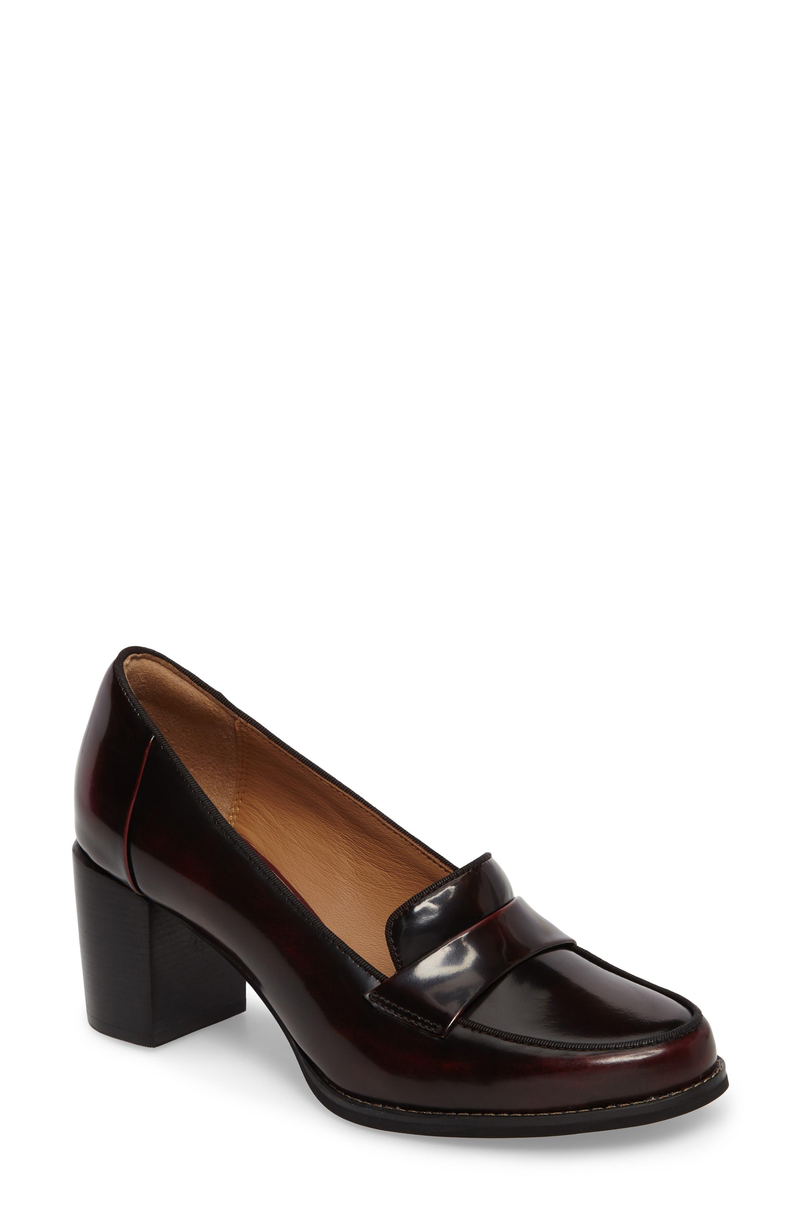 Tarah Grace Pump,                             Main thumbnail 1, color,                             Burgundy Leather