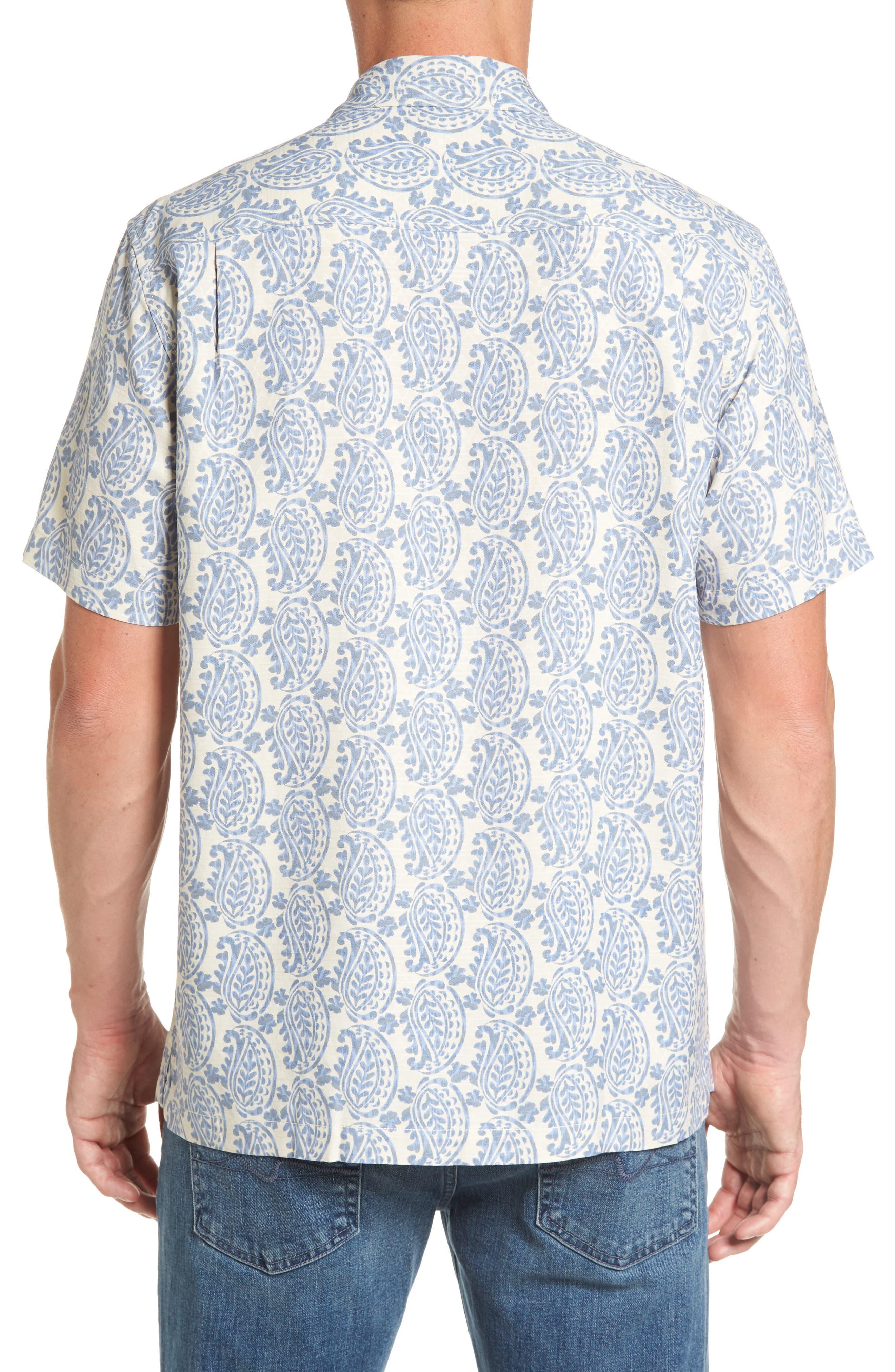 Alternate Image 2  - Tommy Bahama Paisley Days Woven Shirt