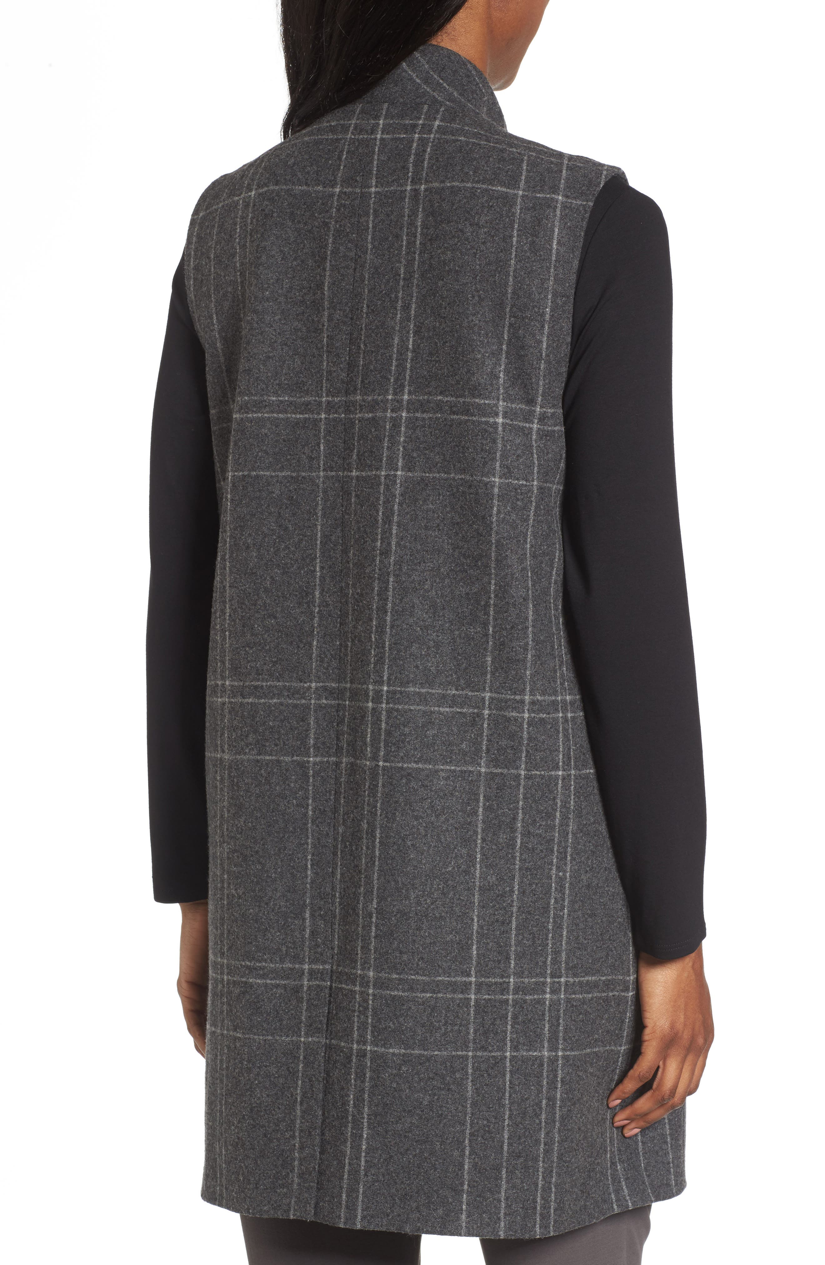 Alternate Image 2  - Eileen Fisher Long Plaid Vest