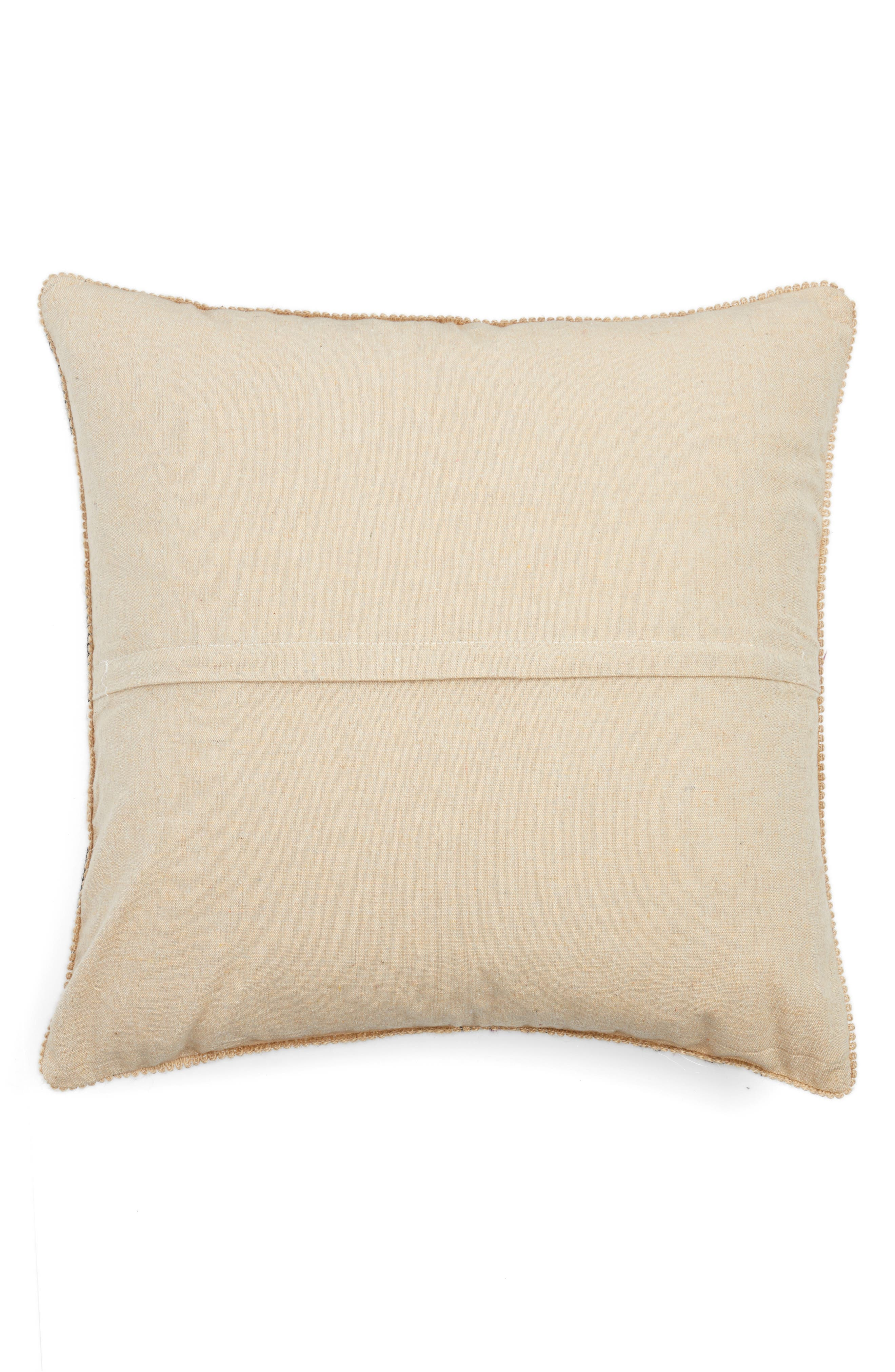 Zander Embroidered Pillow,                             Alternate thumbnail 2, color,                             Multi