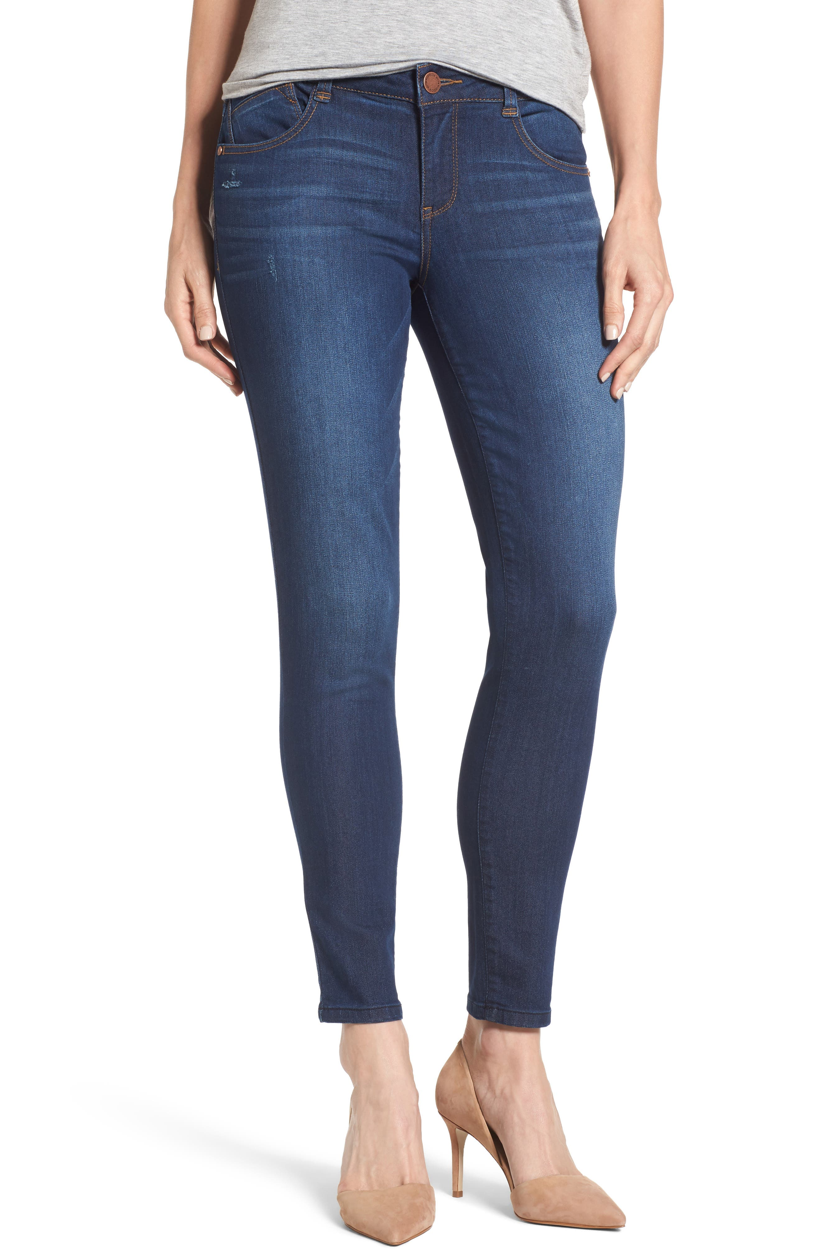 Skinny Ankle Jeans,                             Main thumbnail 1, color,                             Indigo