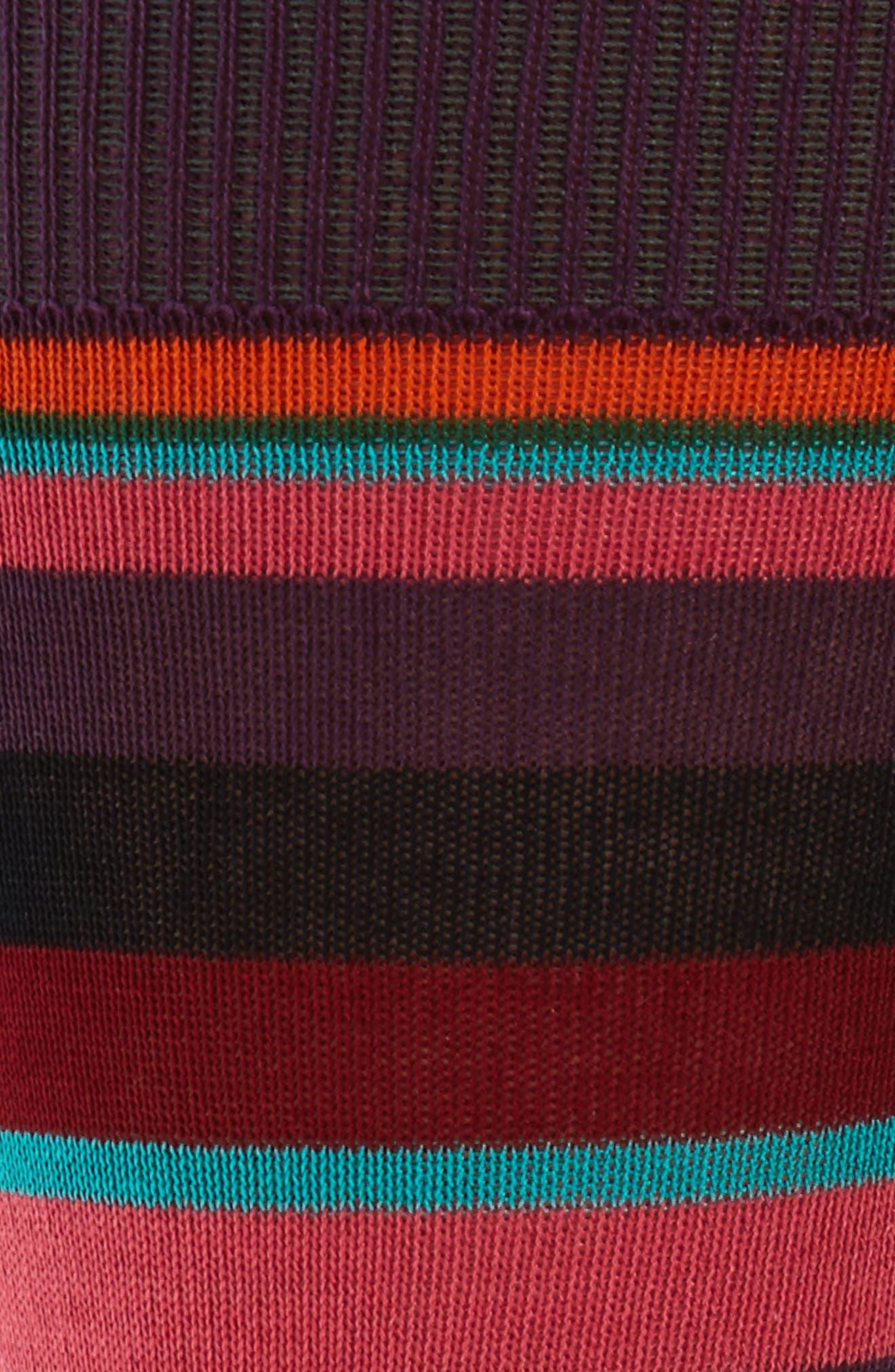 Valentine Told Me Stripe Socks,                             Alternate thumbnail 2, color,                             Blue/ Red