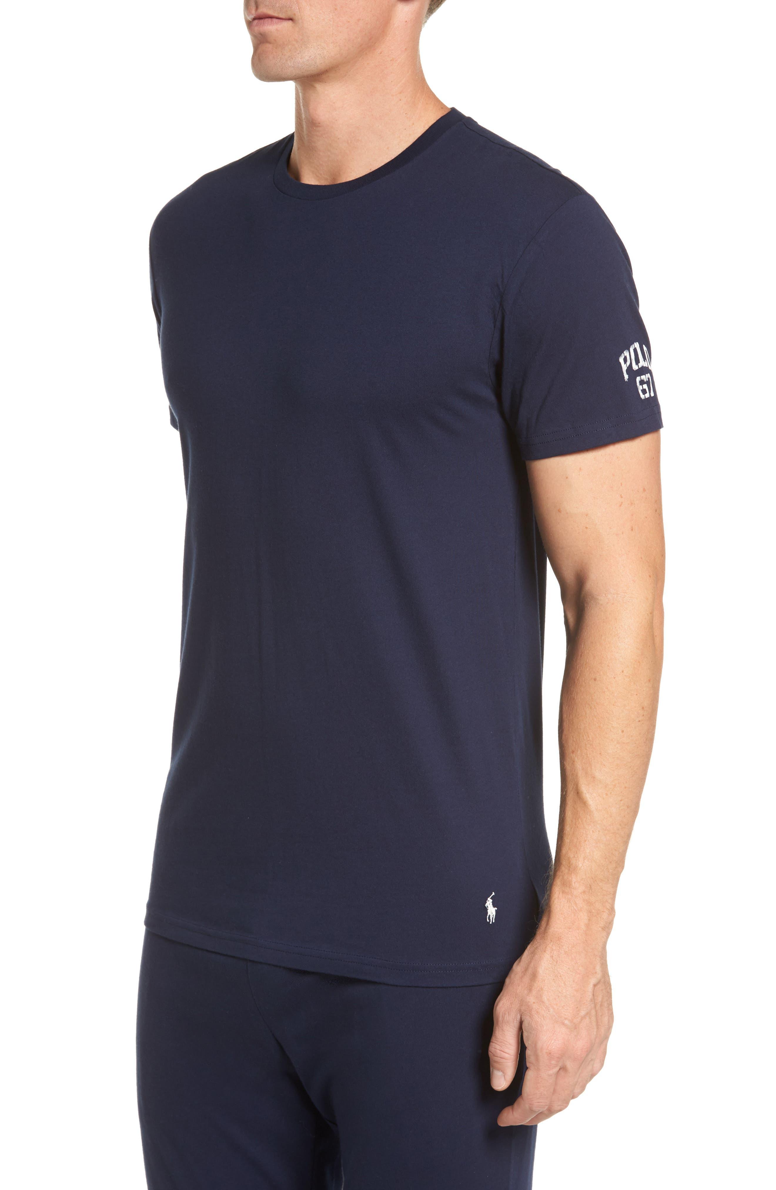 Crewneck T-Shirt,                             Alternate thumbnail 3, color,                             Cruise Navy