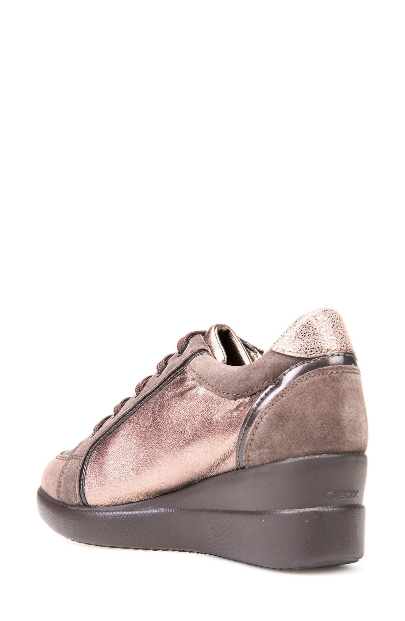 Alternate Image 2  - Geox Stardust Wedge Sneaker (Women)