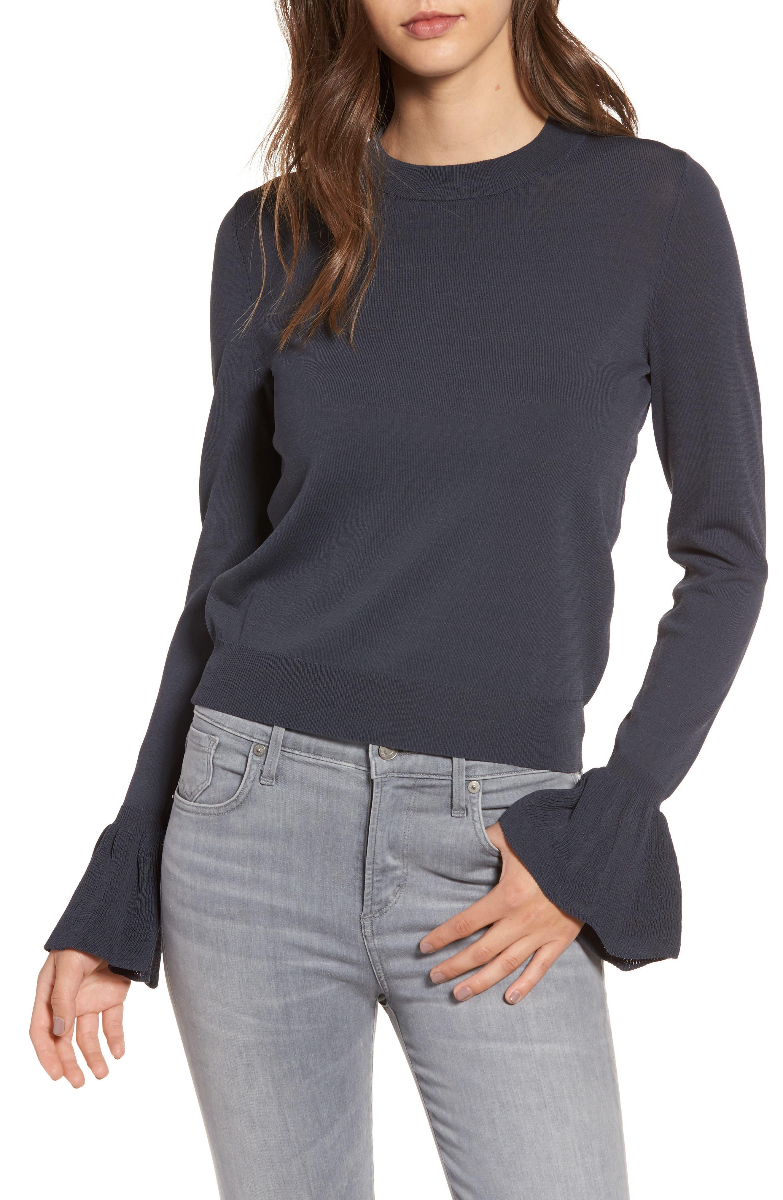 Main Image - Leith Flare Cuff Sweater