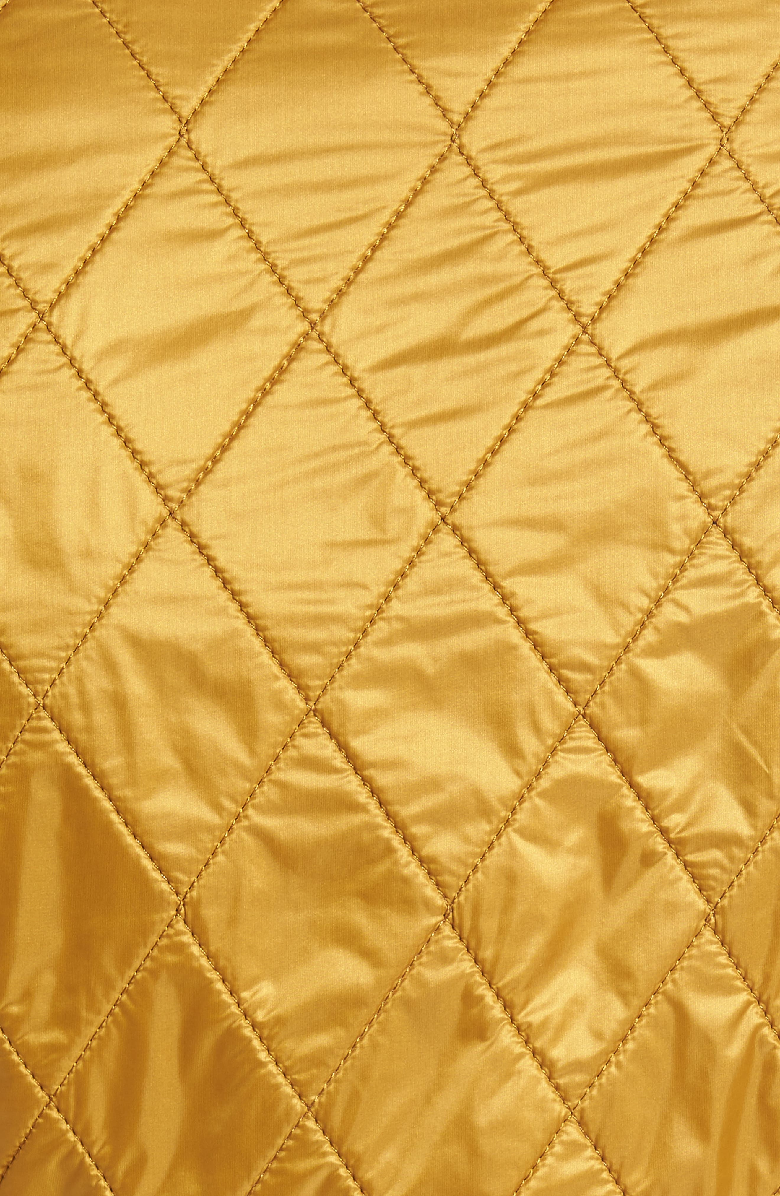 Wray Water Resistant Quilted Gilet,                             Alternate thumbnail 6, color,                             Harvest Gold