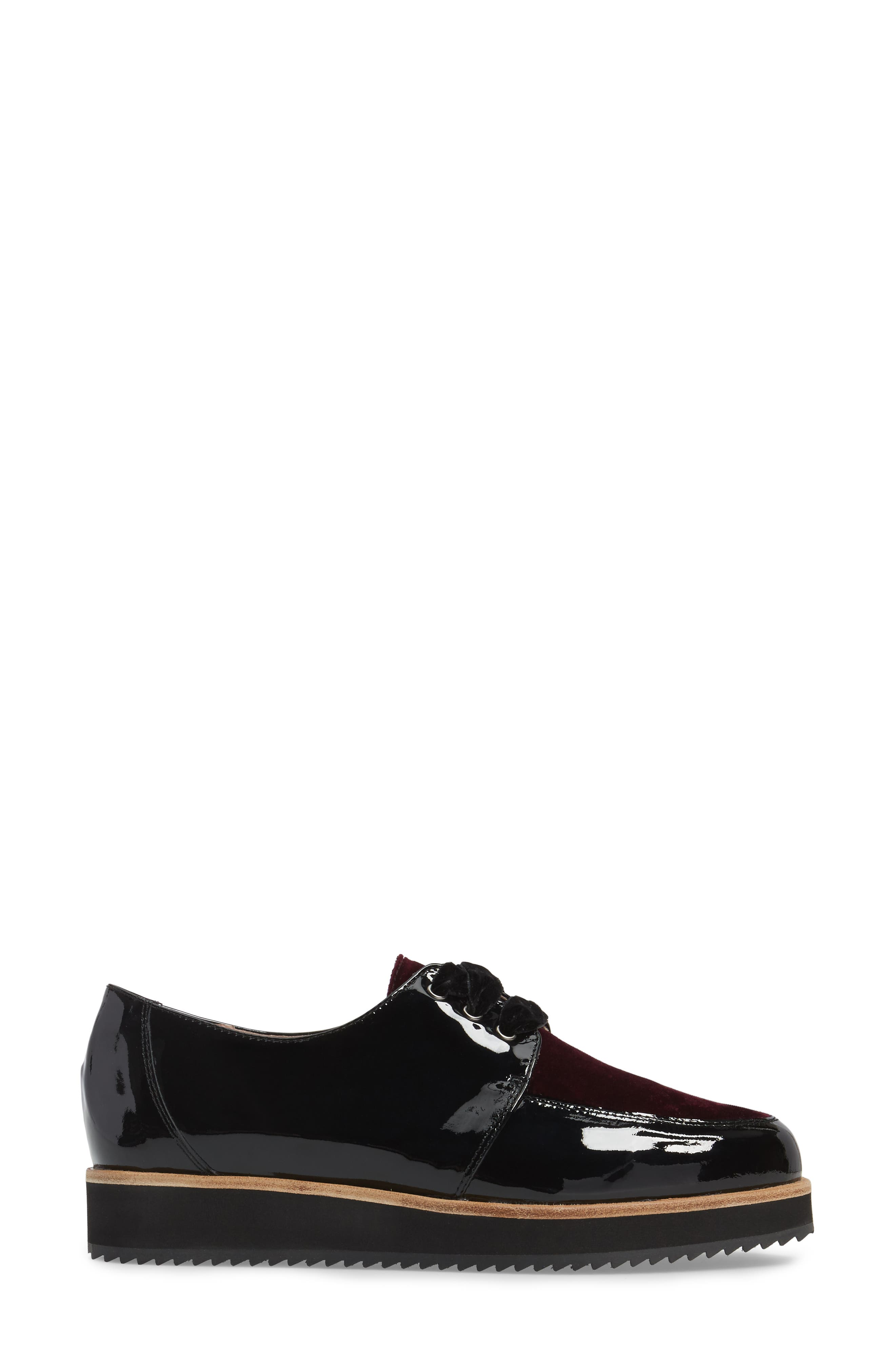 Reese Platform Oxford,                             Alternate thumbnail 3, color,                             Burgundy Patent