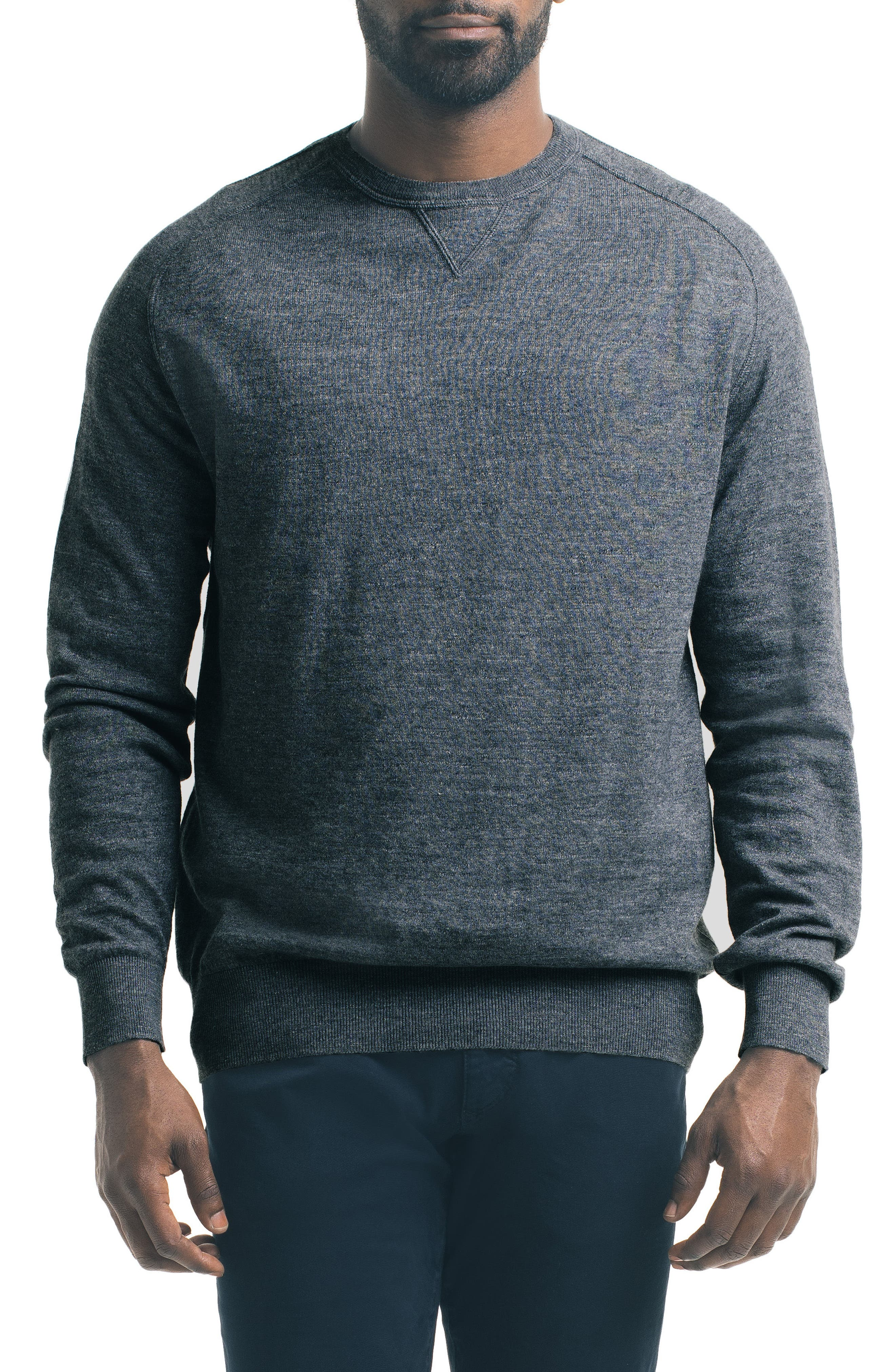 Slub Pullover Sweater,                         Main,                         color, Charcoal