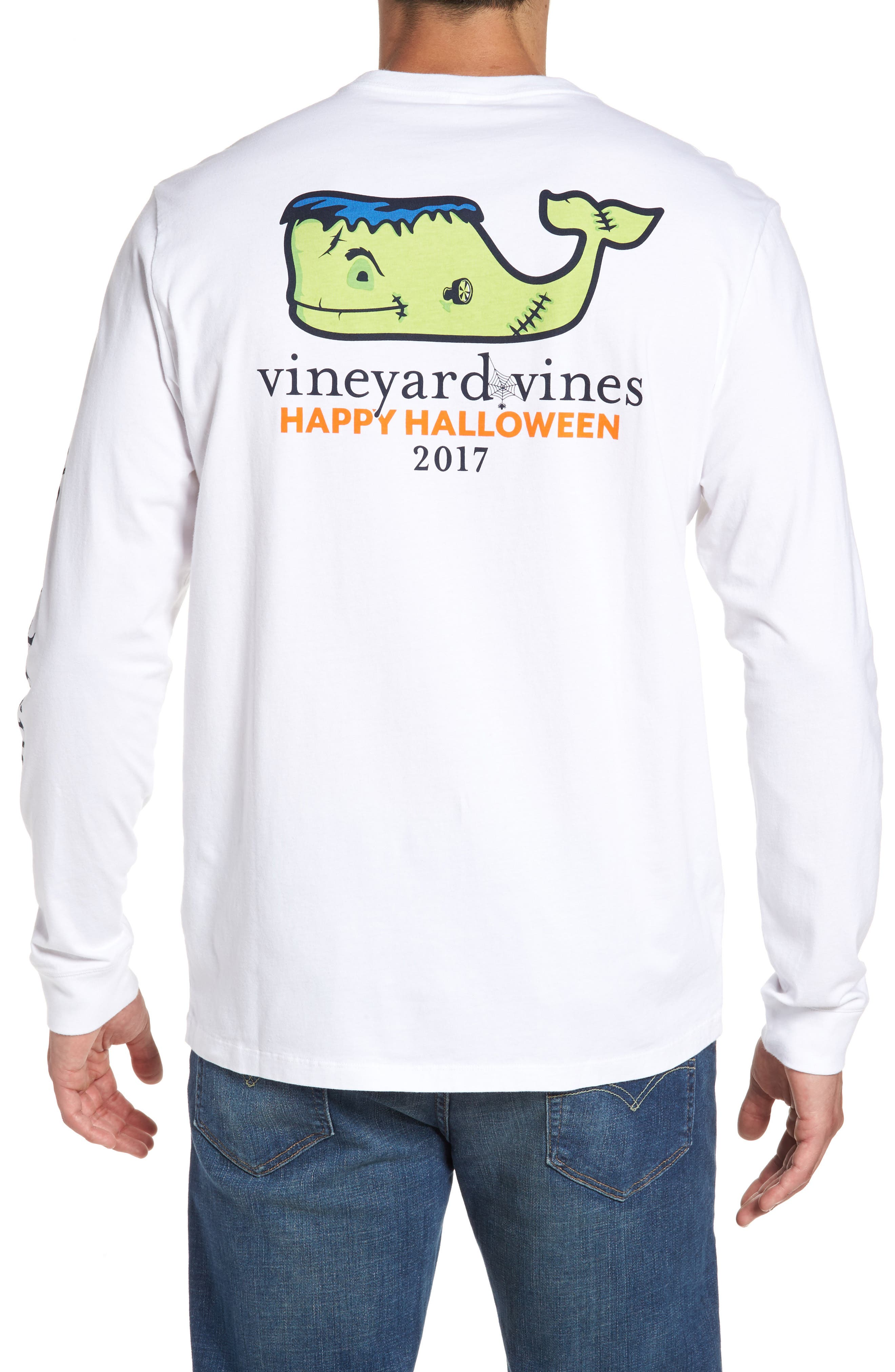 Main Image - vineyard vines Frankenstein Whale Graphic Long Sleeve T-Shirt